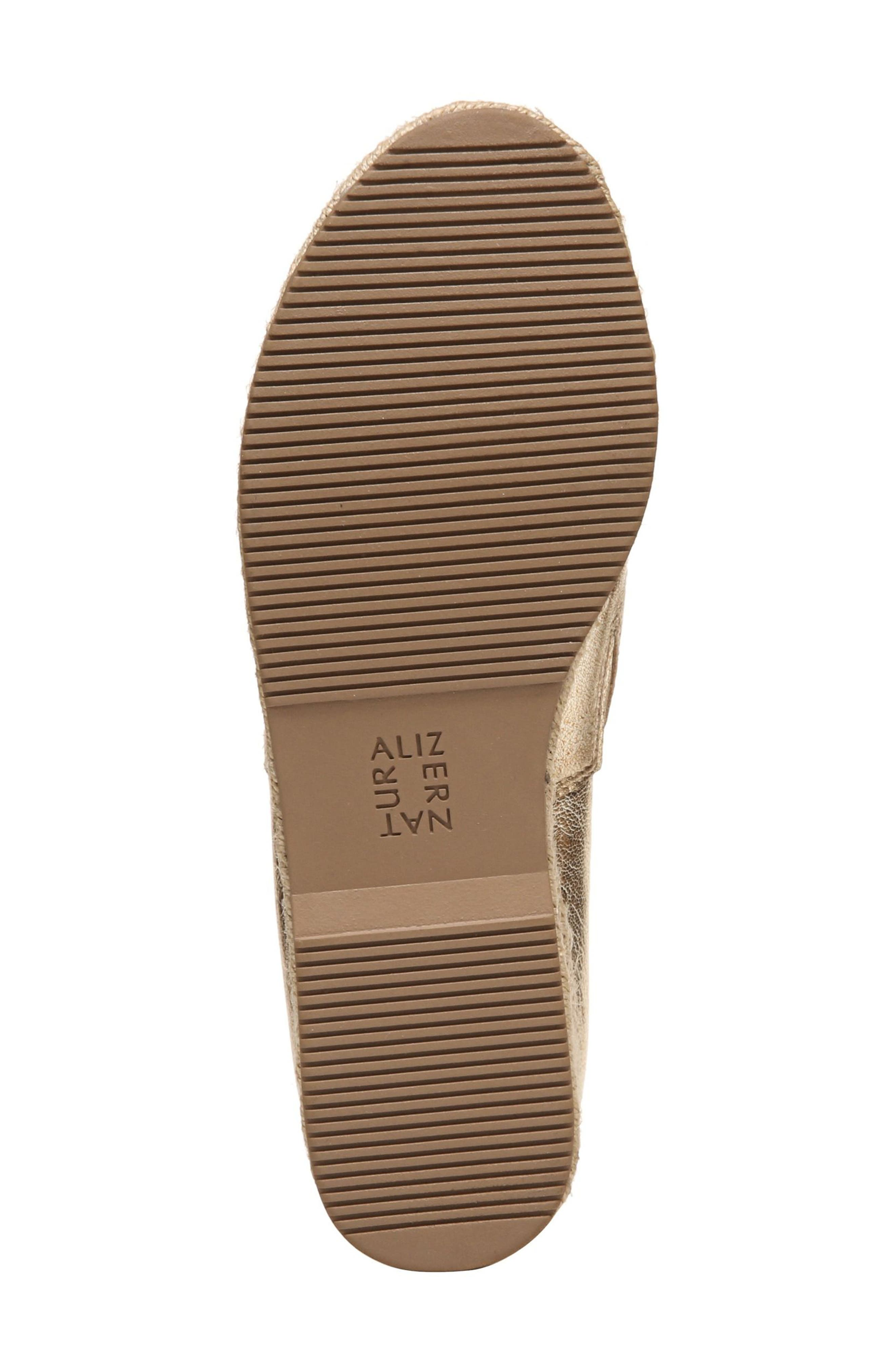 Thea Perforated Platform Espadrille,                             Alternate thumbnail 8, color,                             Platino Leather