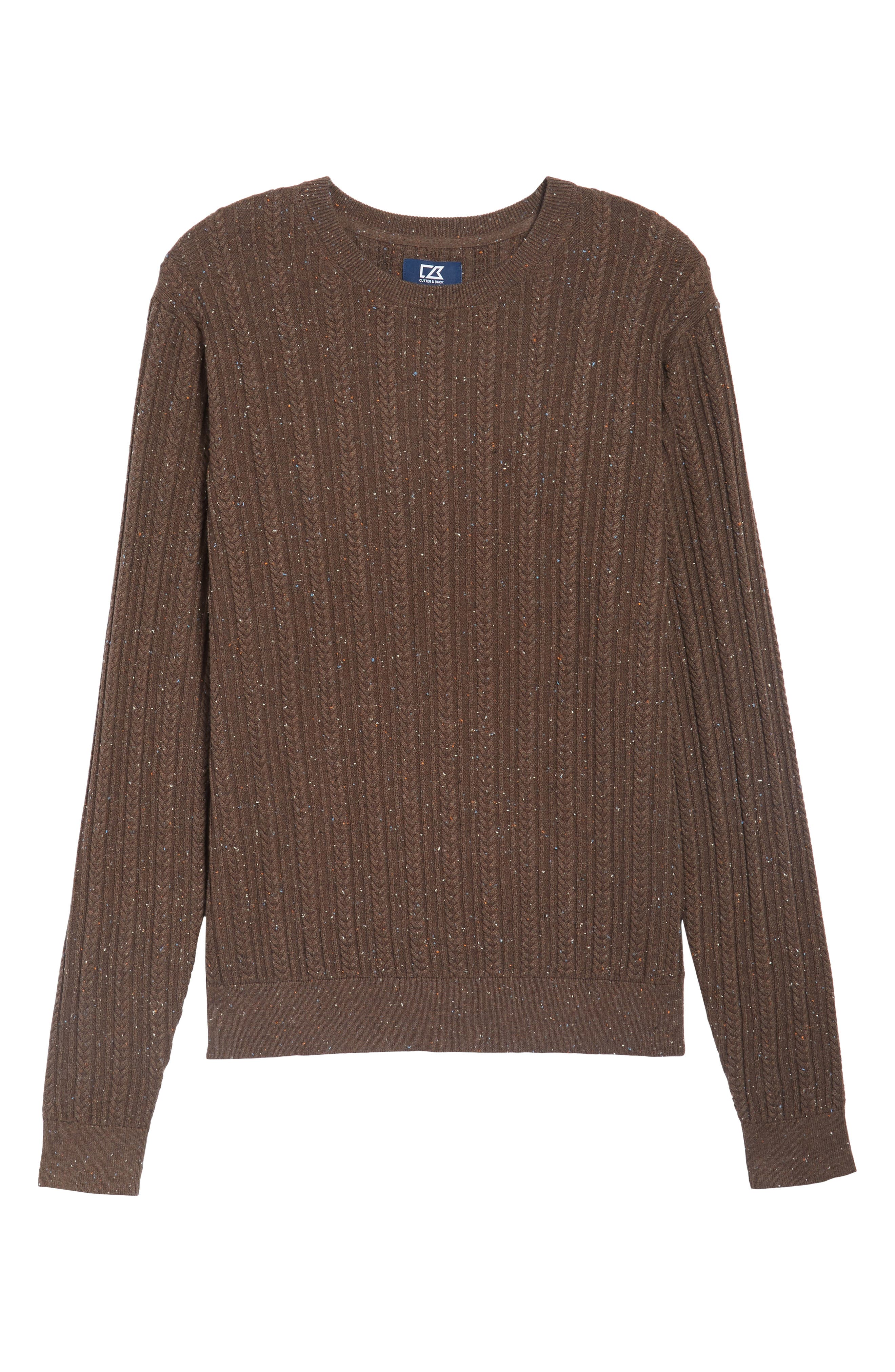 Carlton Crewneck Sweater,                             Alternate thumbnail 6, color,                             Twig