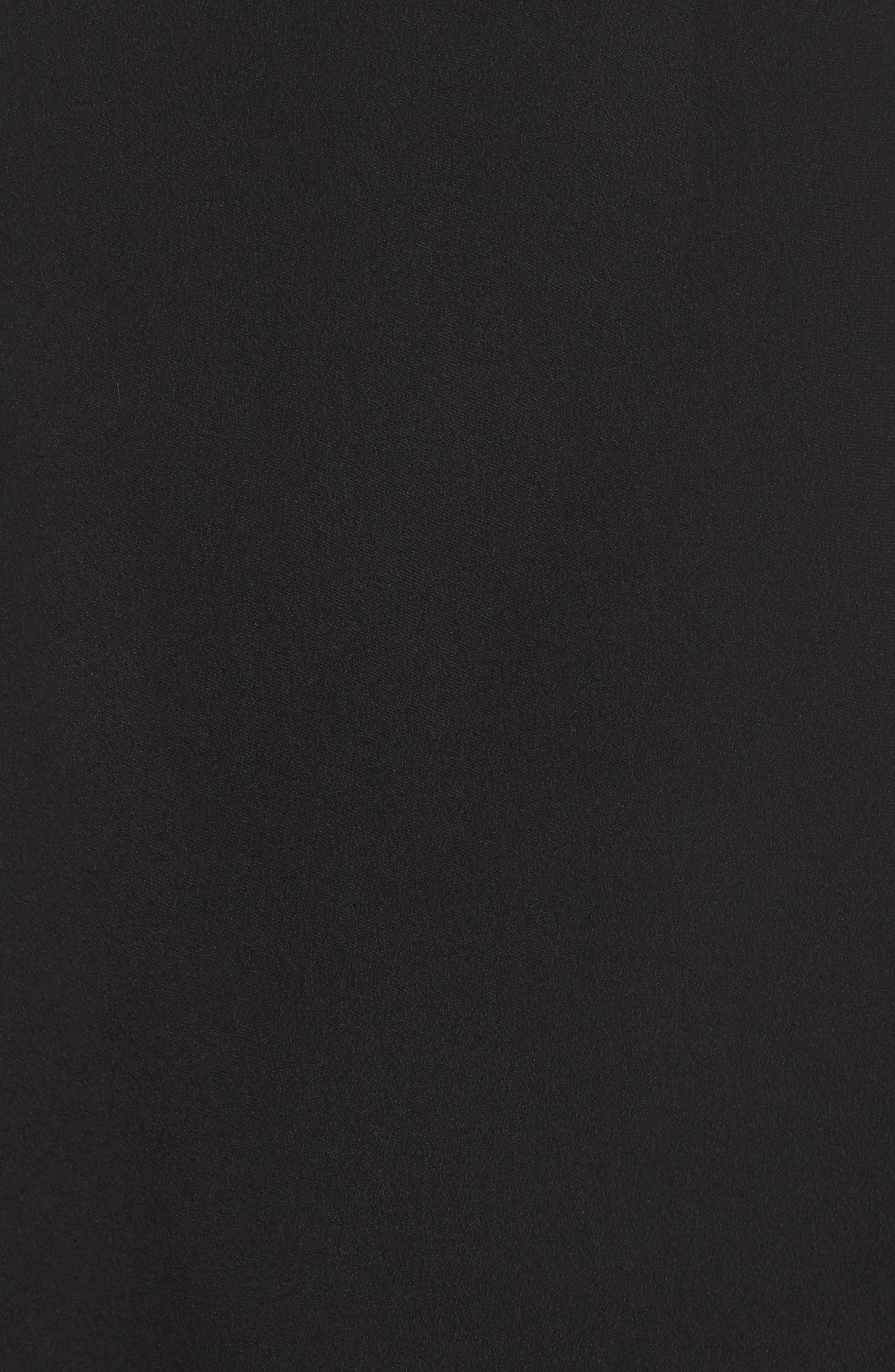 Isabella Cold Shoulder Shift Dress,                             Alternate thumbnail 5, color,                             Rich Black