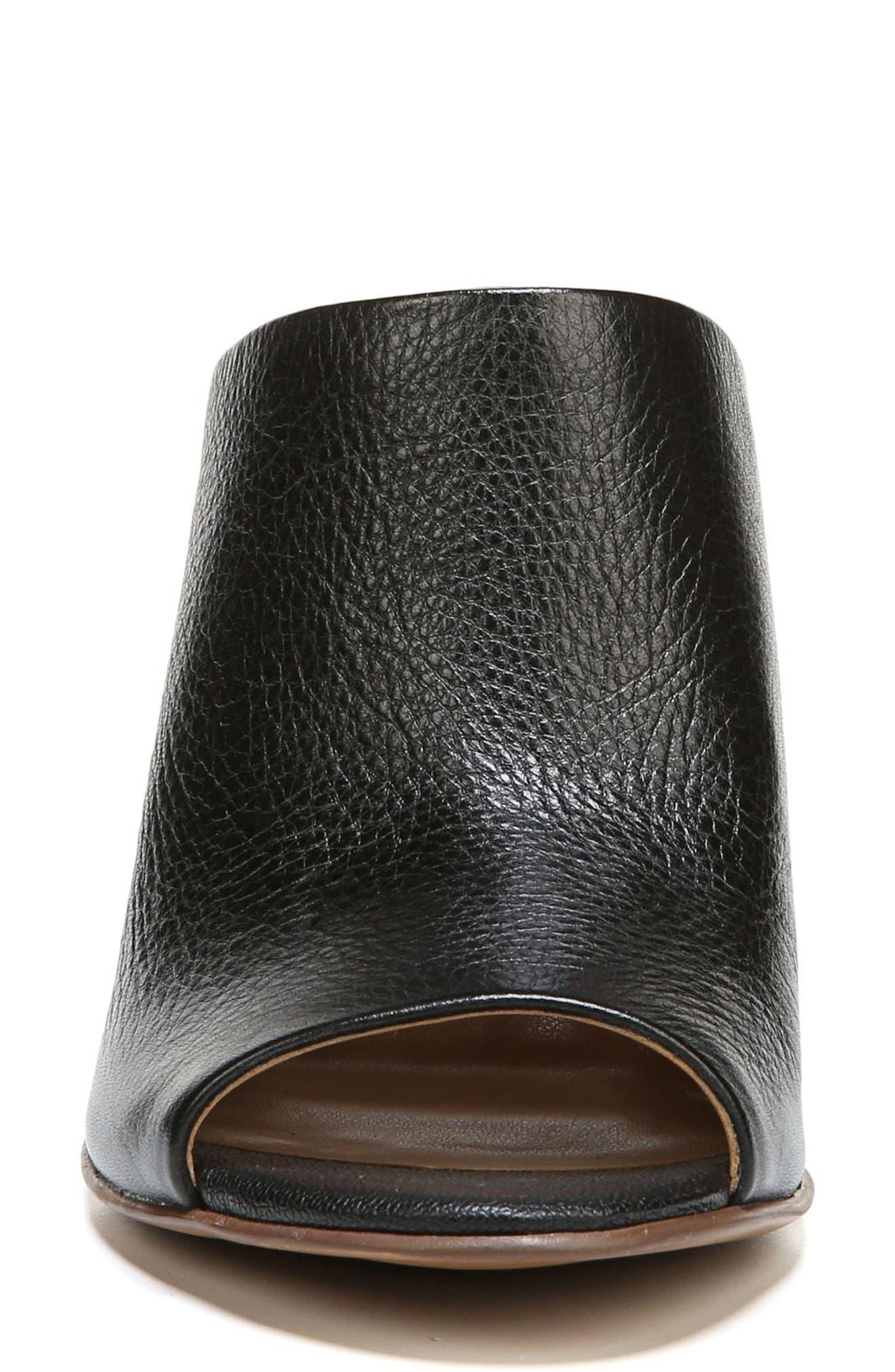 Sloan Sandal,                             Alternate thumbnail 4, color,                             Black Pebbled Leather