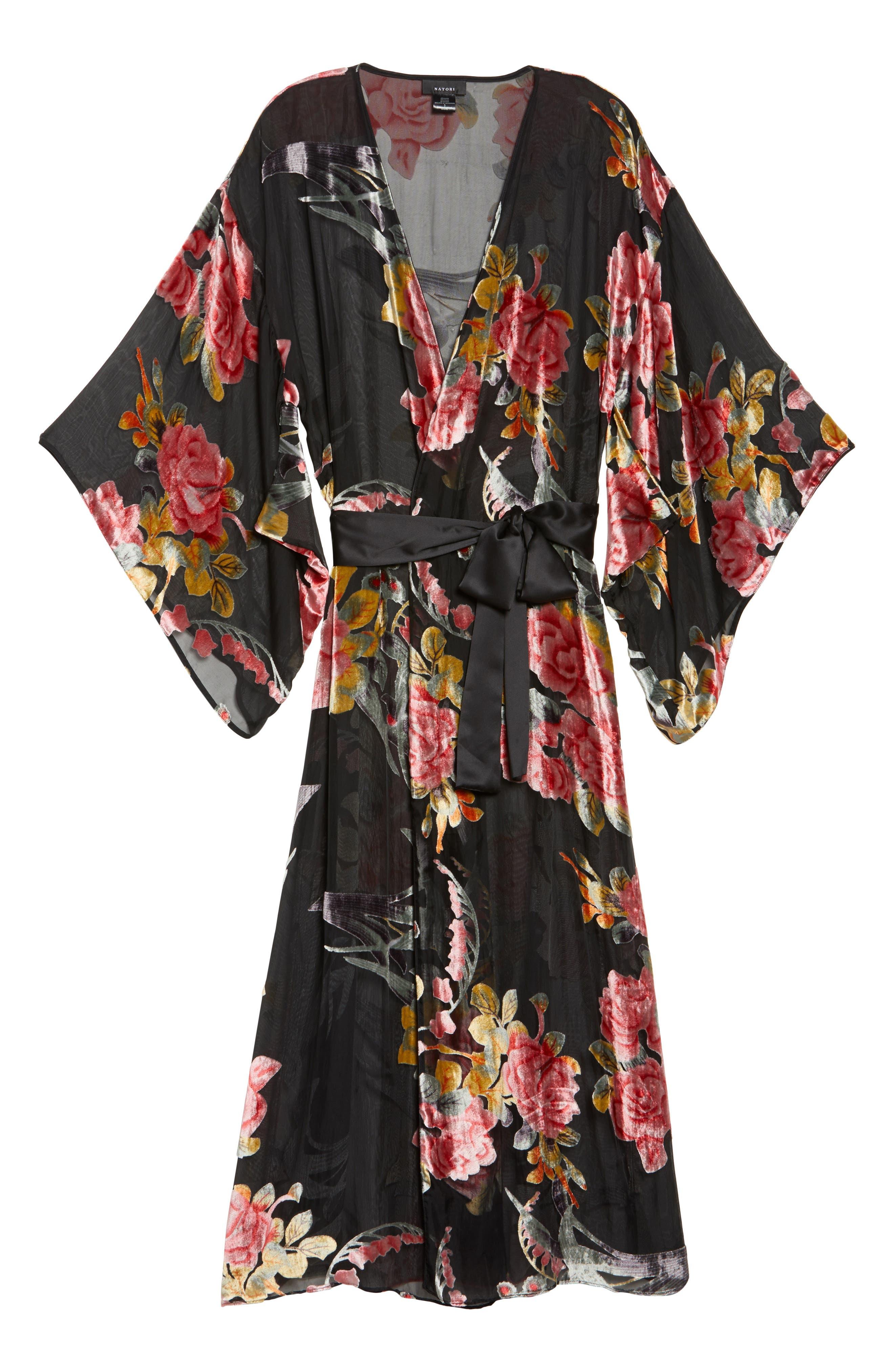 Alternate Image 6  - Natori Burnout Velvet Robe