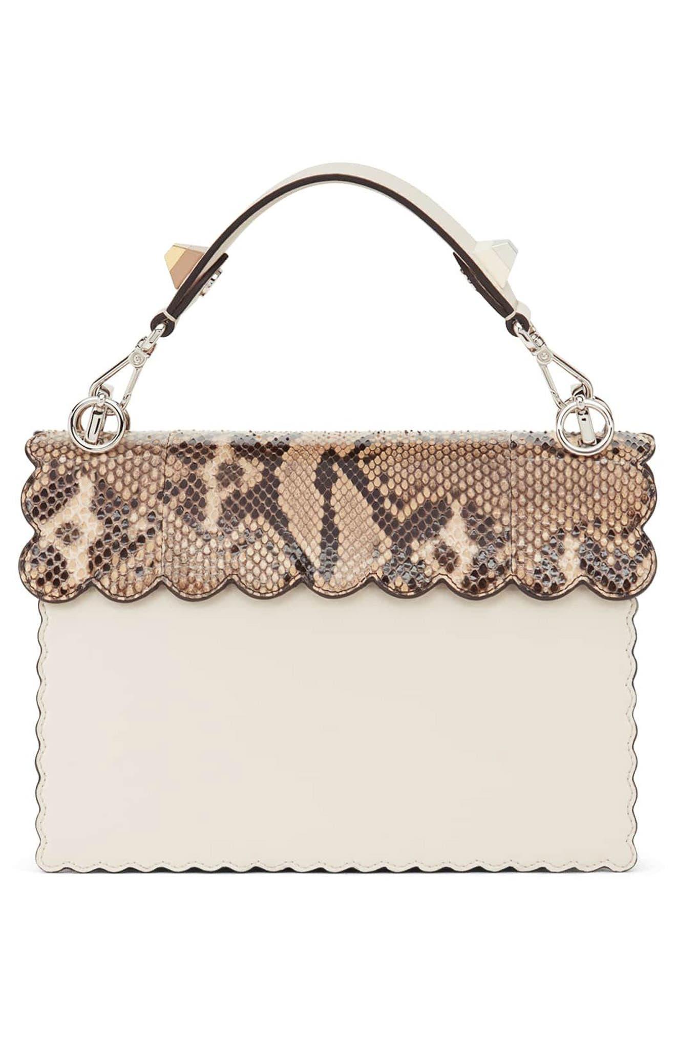 Small Kan I Genuine Python & Calfskin Shoulder Bag,                             Alternate thumbnail 2, color,                             Camelia/ Makeup/ Python