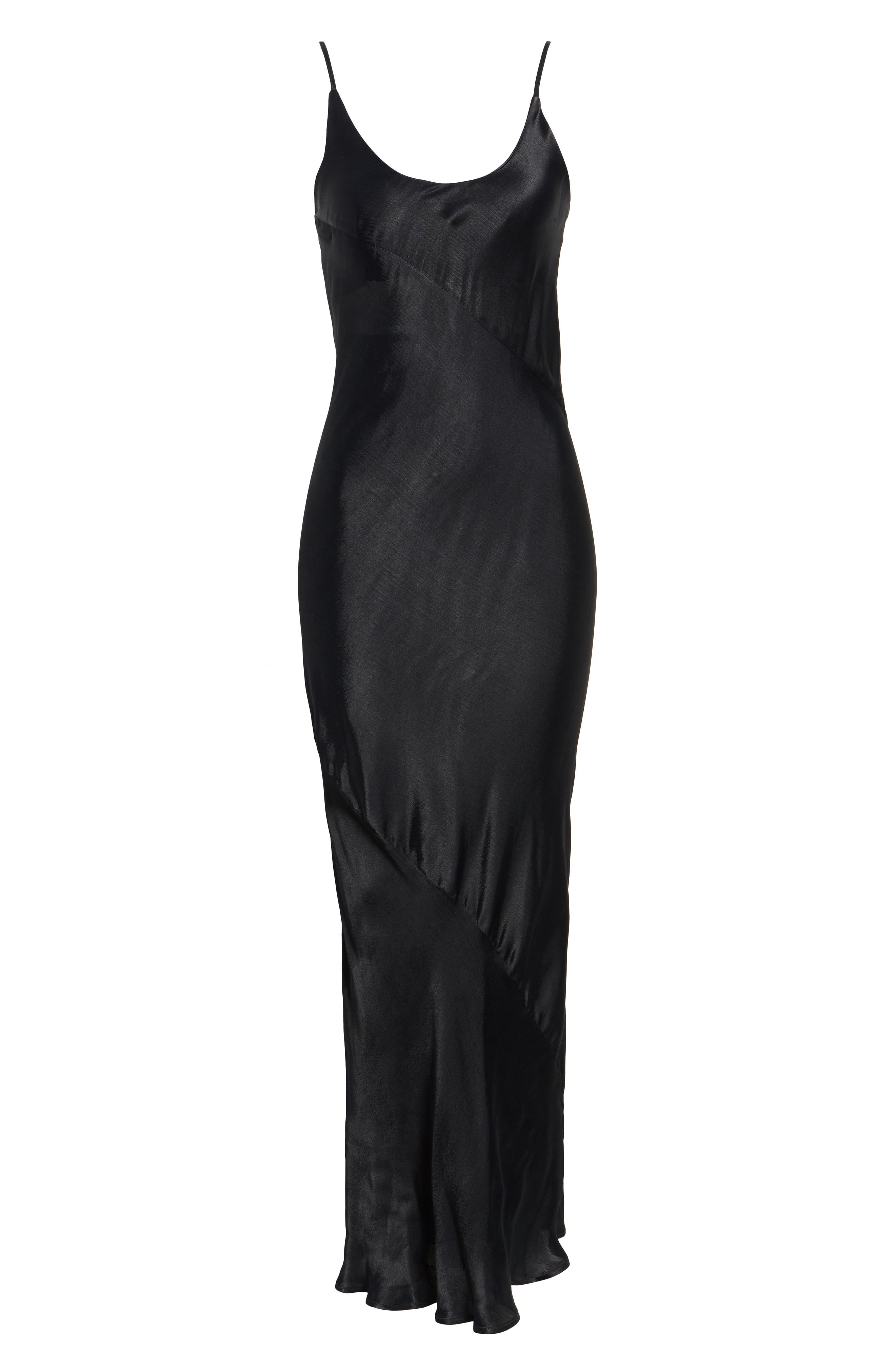 Naomi Maxi Slipdress,                             Alternate thumbnail 6, color,                             Black