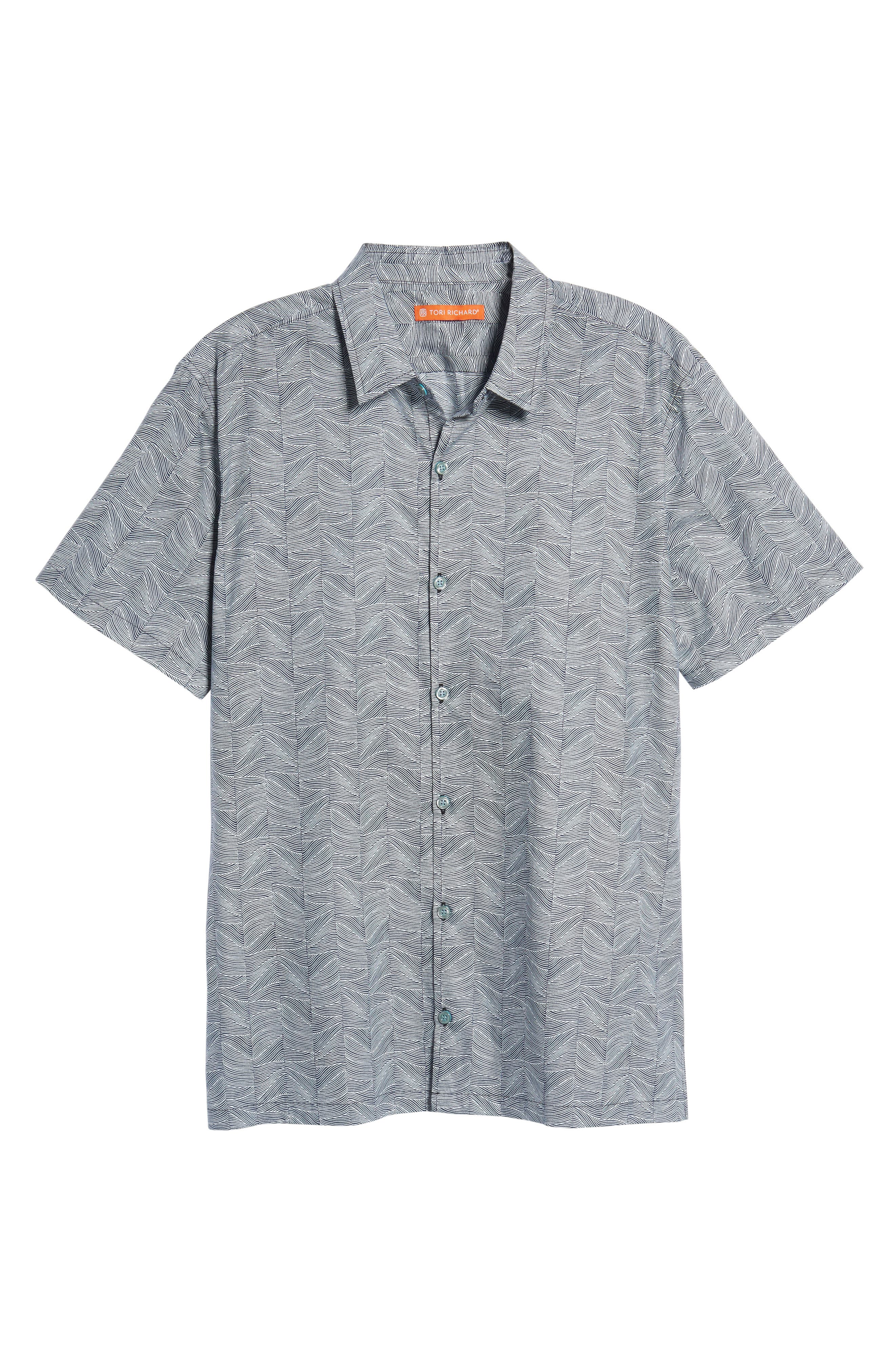 Alternate Image 6  - Tori Richard Vertigo Trim Fit Print Sport Shirt