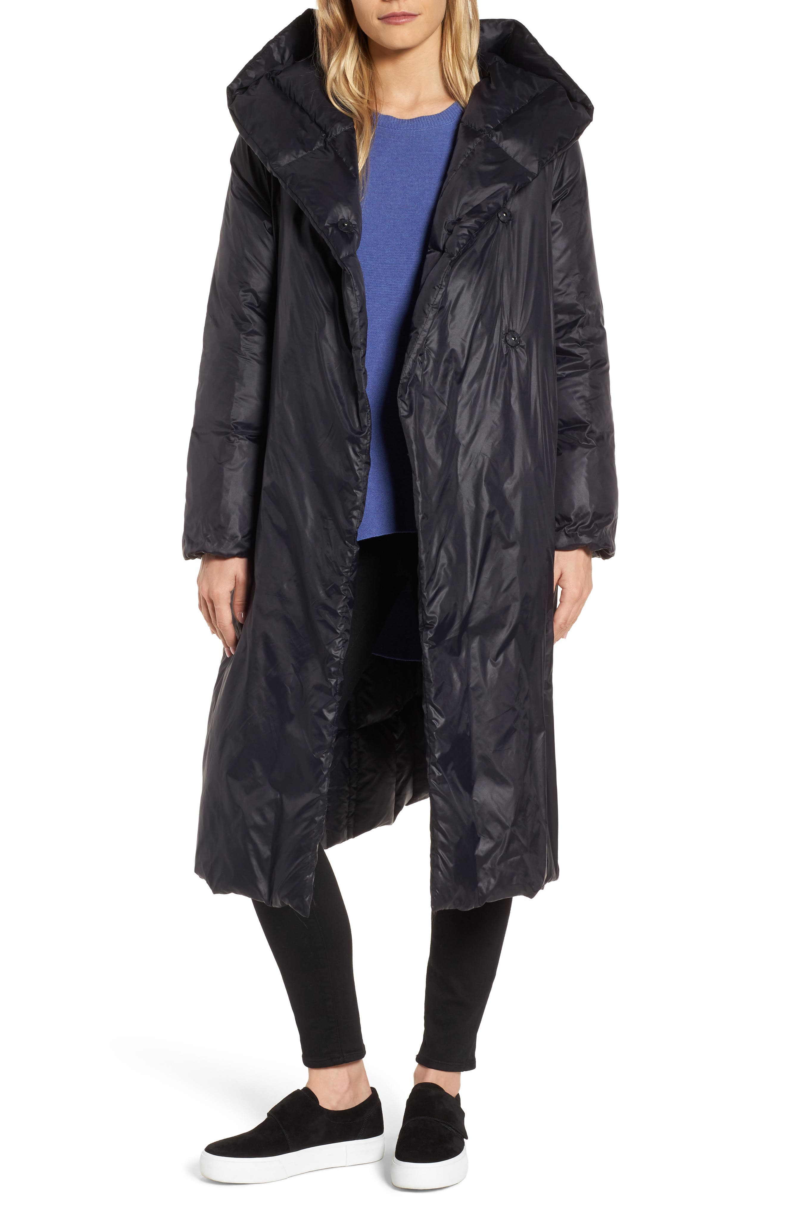 Eileen Fisher Shawl Hood Down Coat
