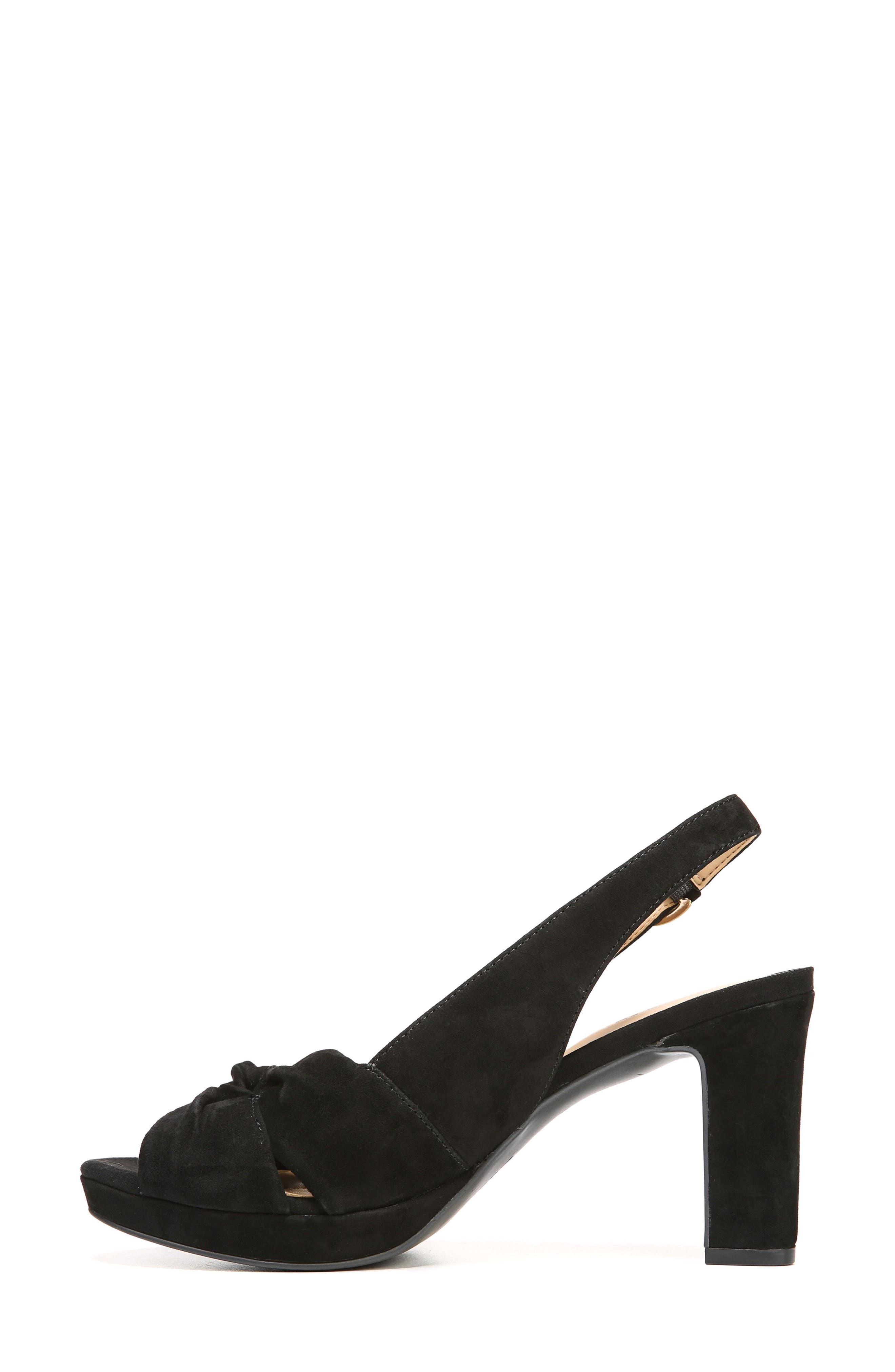 Fawn Slingback Sandal,                             Alternate thumbnail 4, color,                             Black Suede