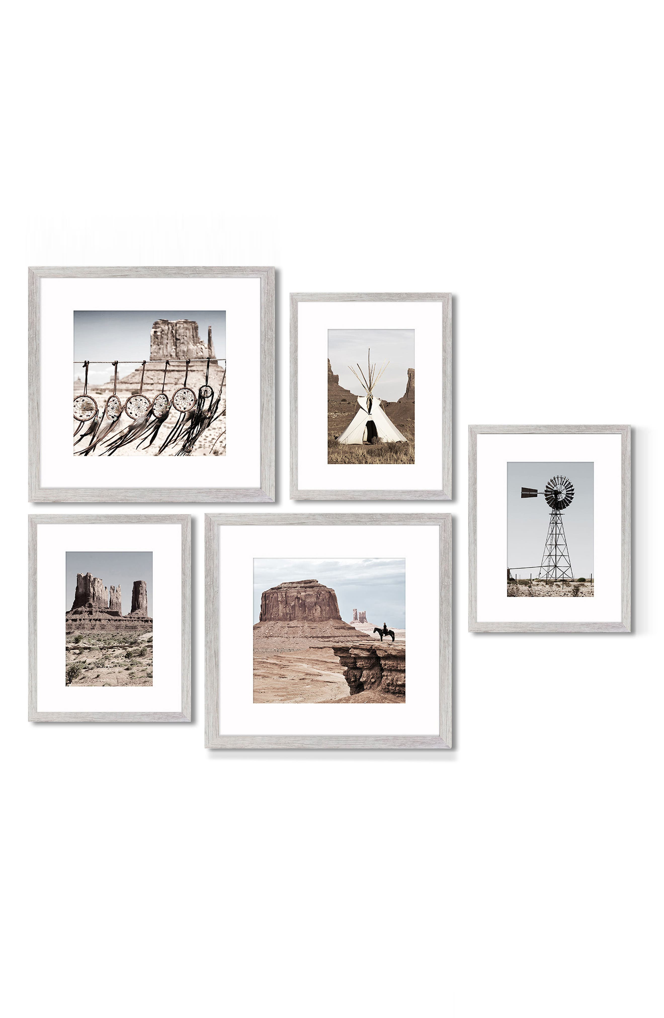 5-Piece Framed Wall Art Gallery,                             Main thumbnail 1, color,                             Southwest