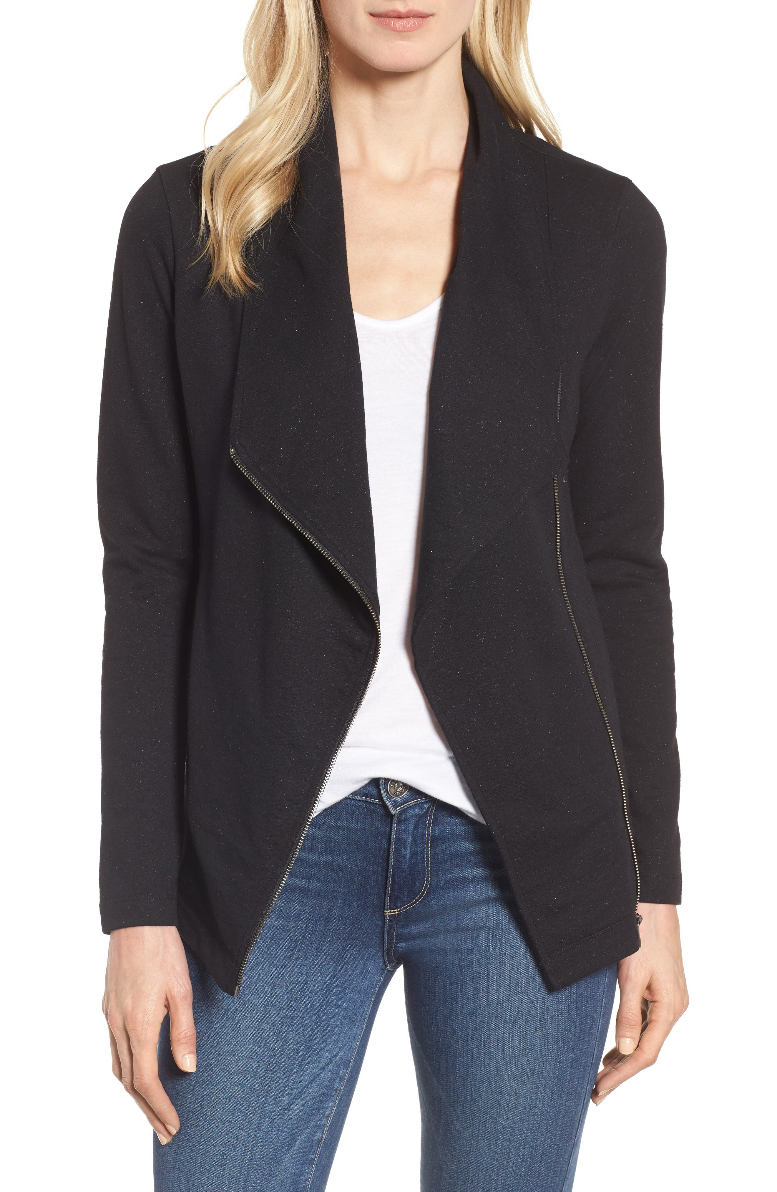 Caslon® Stella Knit Jacket (Regular & Petite)