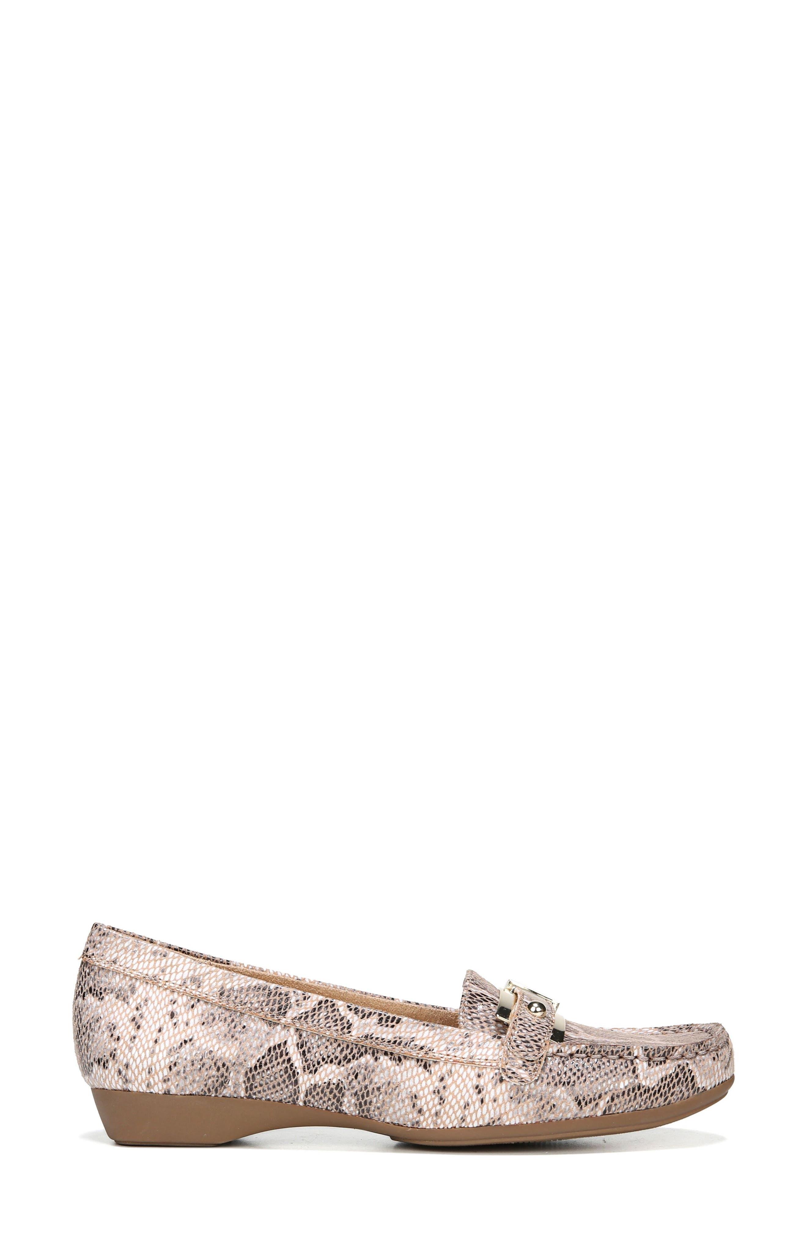 'Gisella' Loafer,                             Alternate thumbnail 3, color,                             Mauve Print Fabric