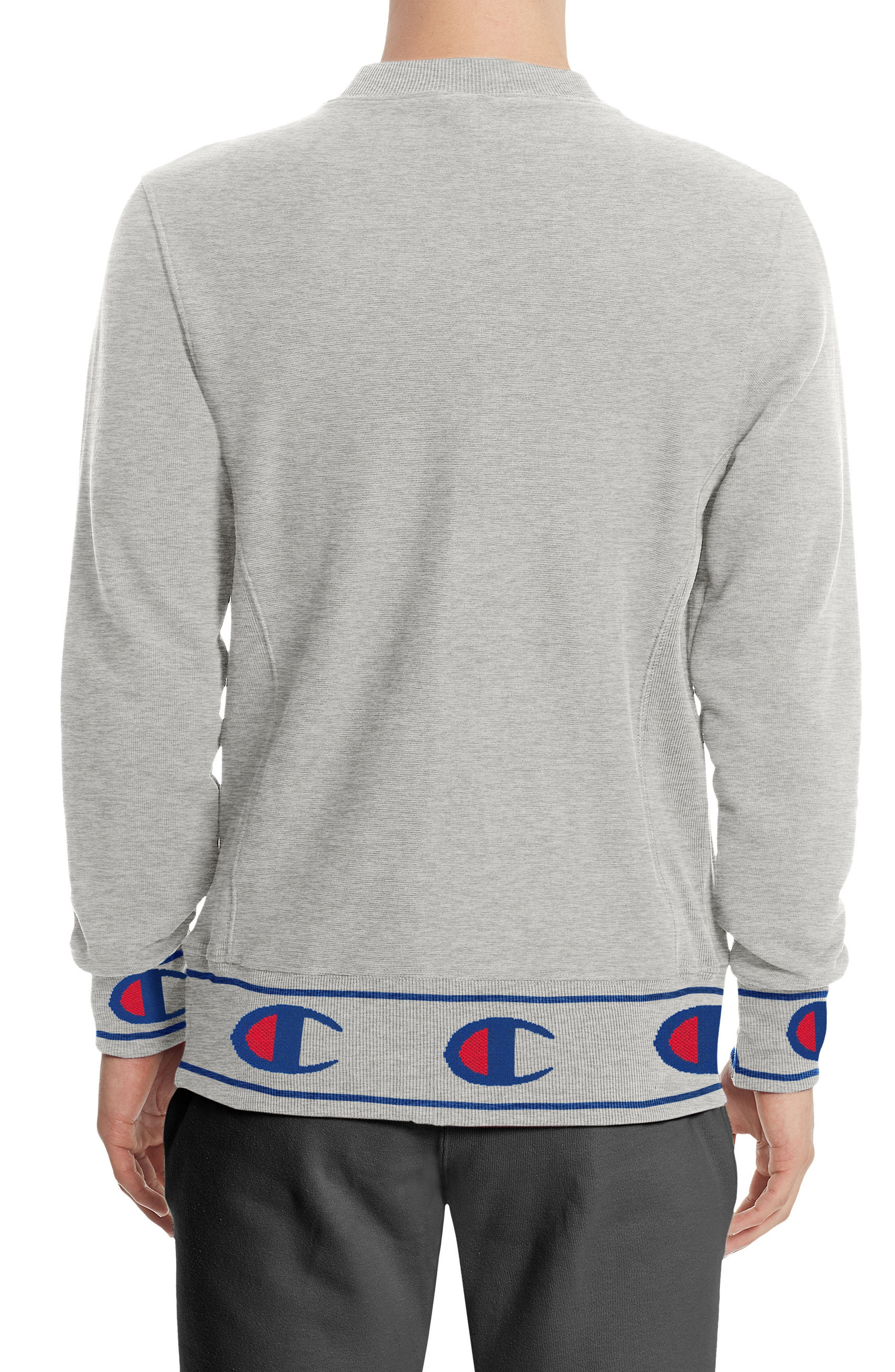 Reverse Weave<sup>®</sup> Sweatshirt,                             Alternate thumbnail 2, color,                             Oxford Grey