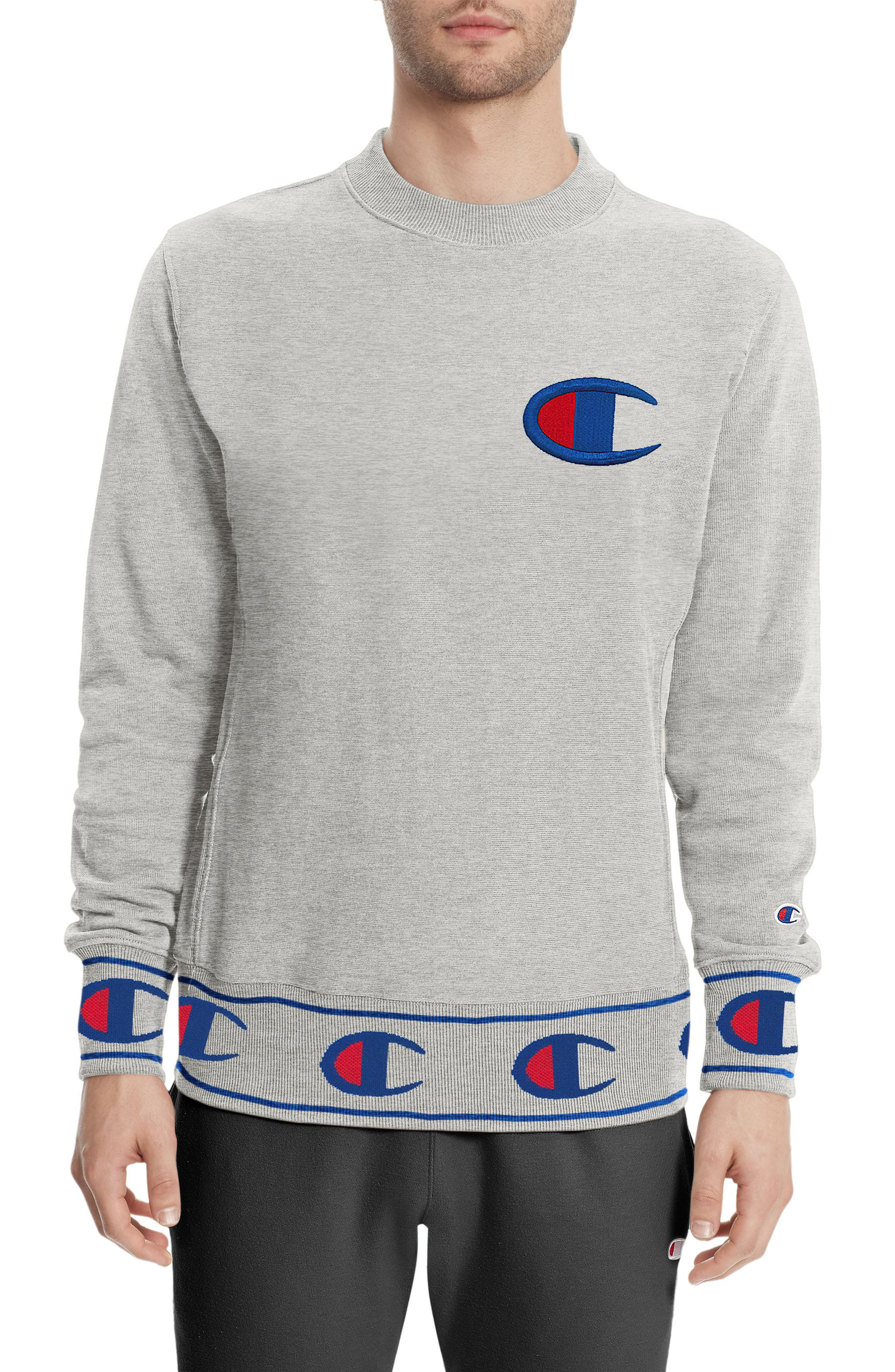 Reverse Weave<sup>®</sup> Sweatshirt,                             Main thumbnail 1, color,                             Oxford Grey