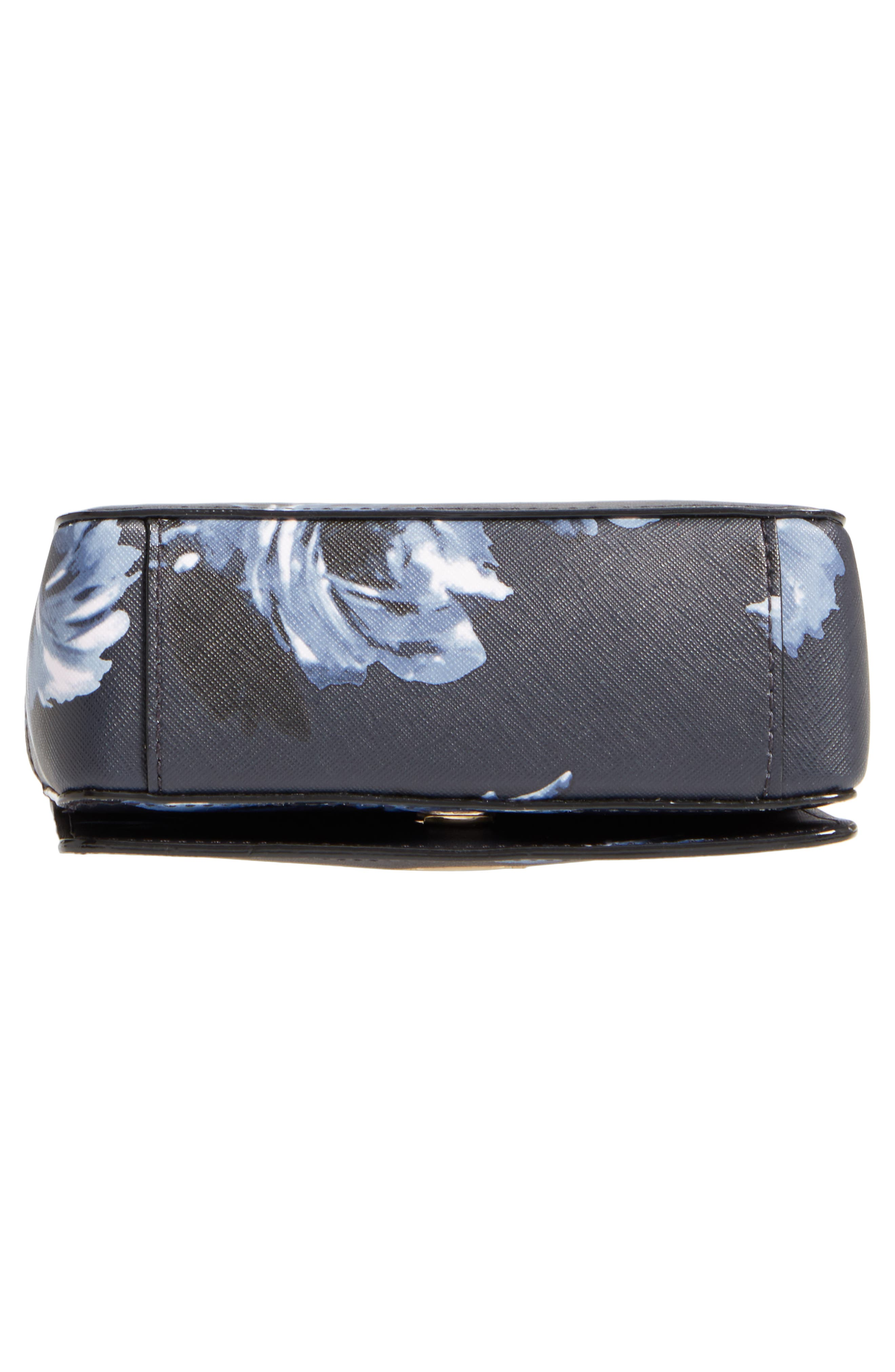 cameron street rose - hope leather crossbody bag,                             Alternate thumbnail 6, color,                             Rich Navy Multi