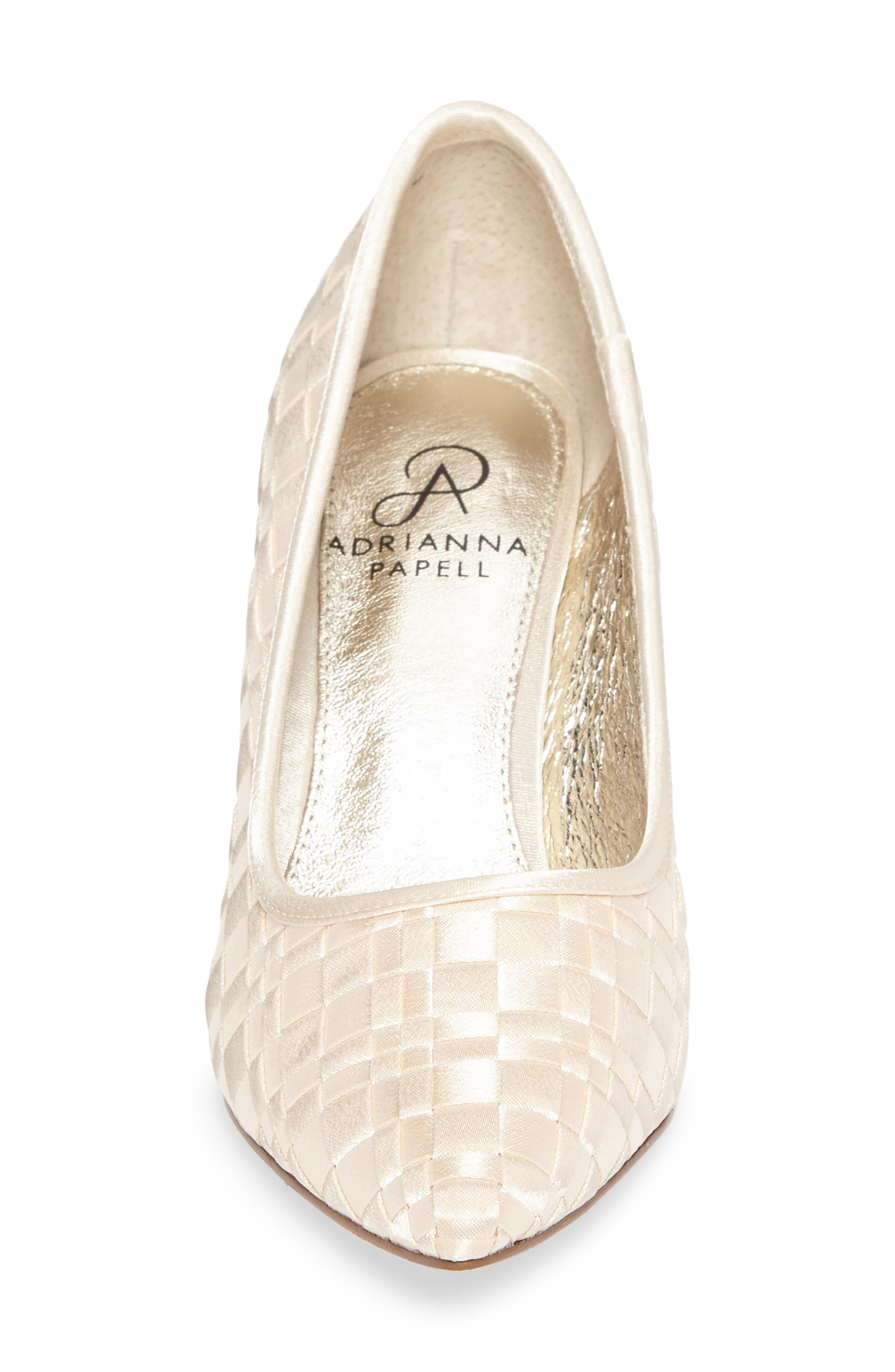 Hasting Pointy Toe Pump,                             Alternate thumbnail 4, color,                             Champagne Satin