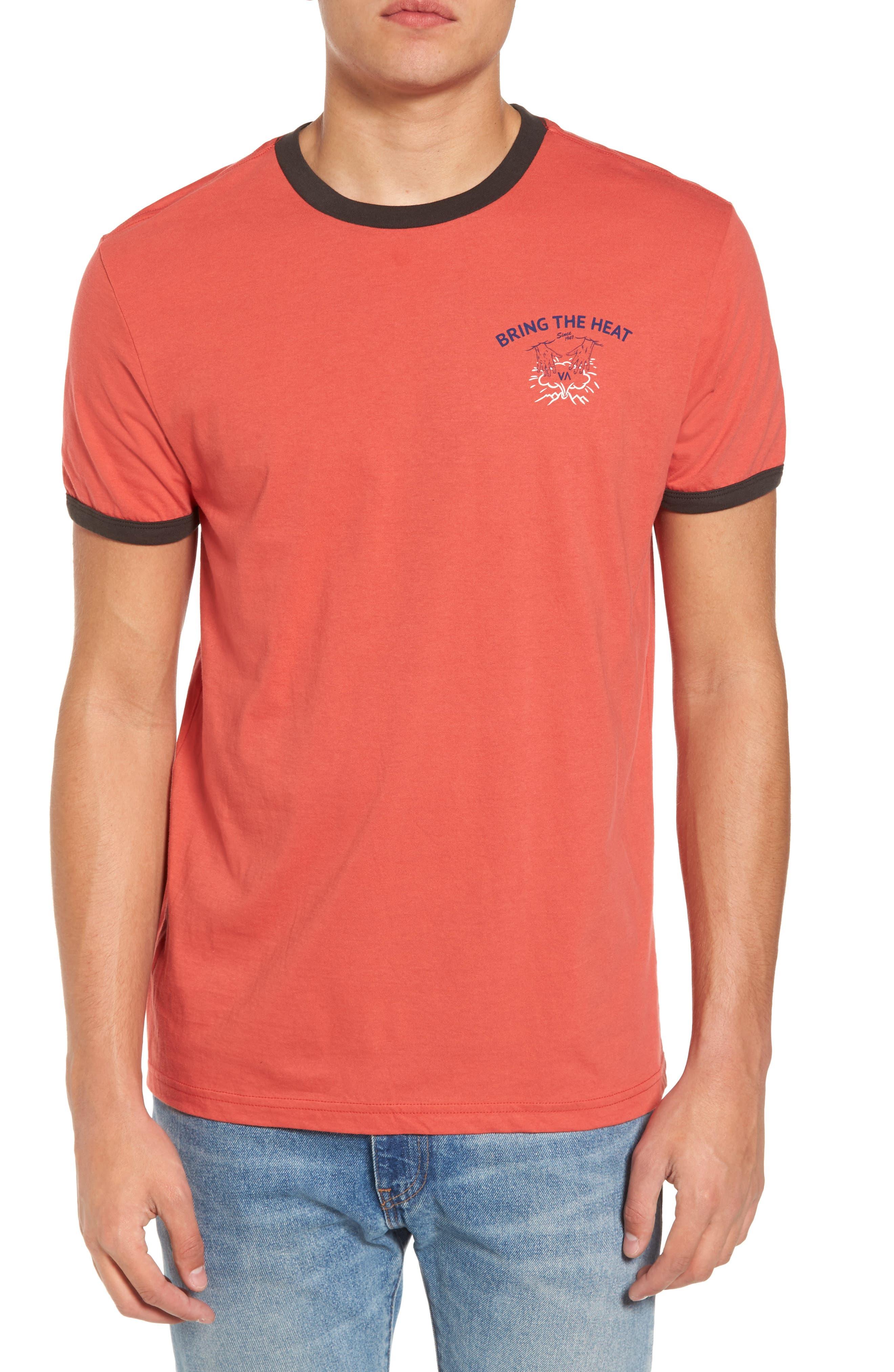 Bringing the Heat T-Shirt,                             Main thumbnail 1, color,                             Rosewood