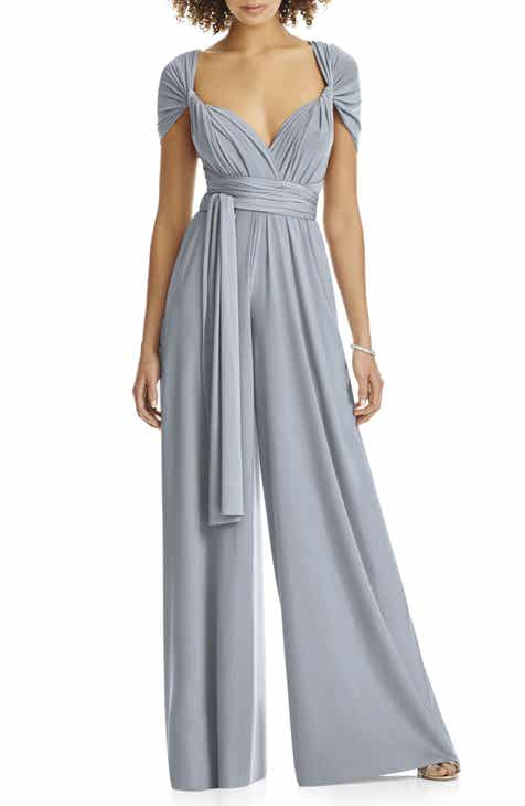 Dessy Collection Convertible Wide Leg Jersey Jumpsuit (Regular   Plus) 66ba67962777