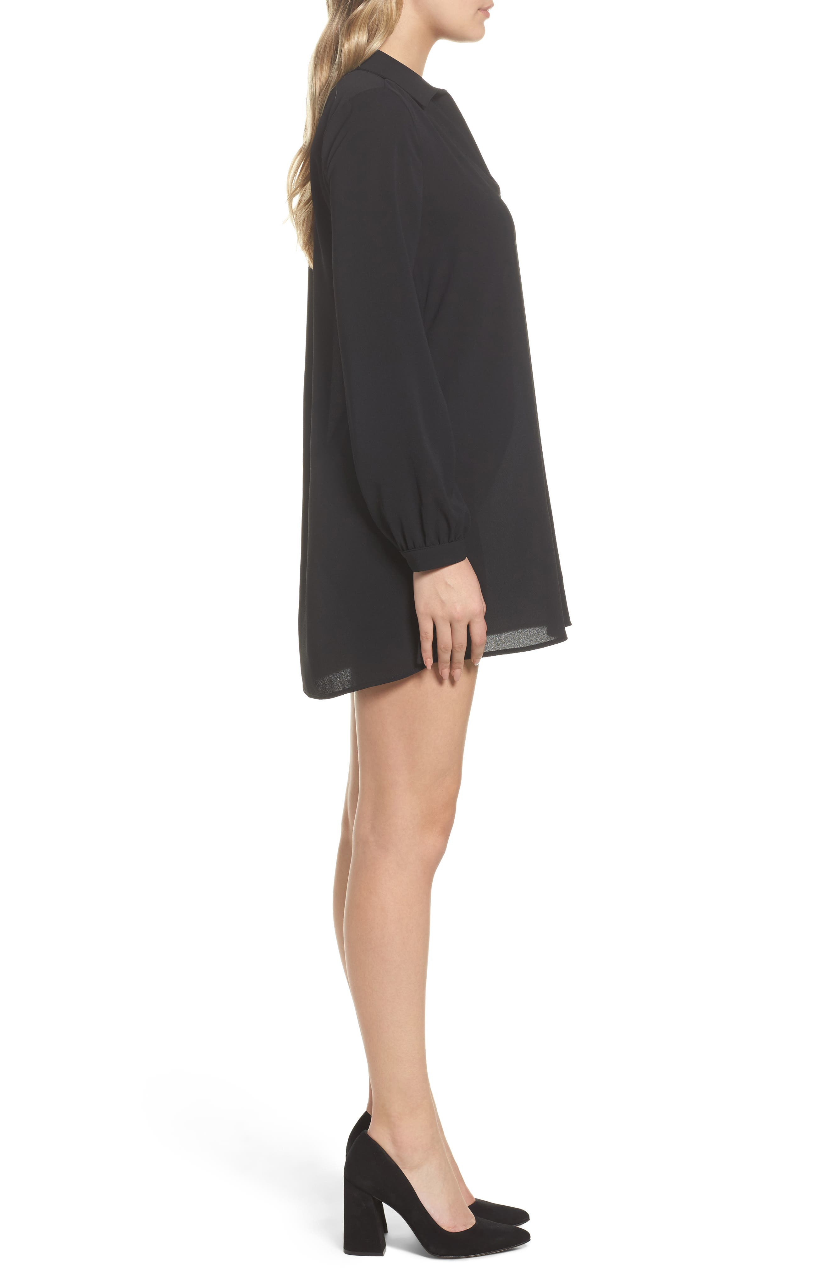 Shirtdress,                             Alternate thumbnail 3, color,                             Black