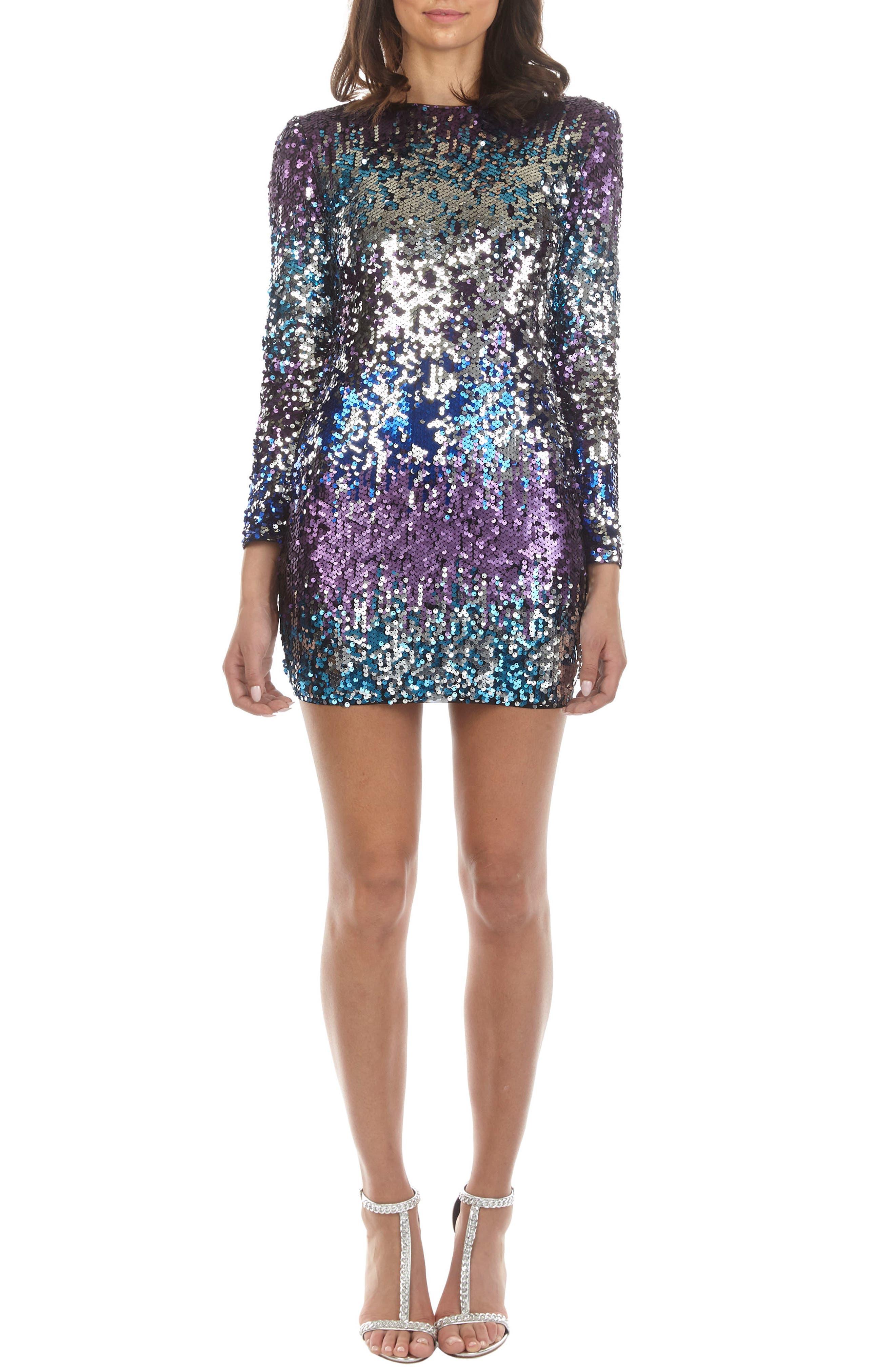 TFNC Paris Sequin Body-Con Dress