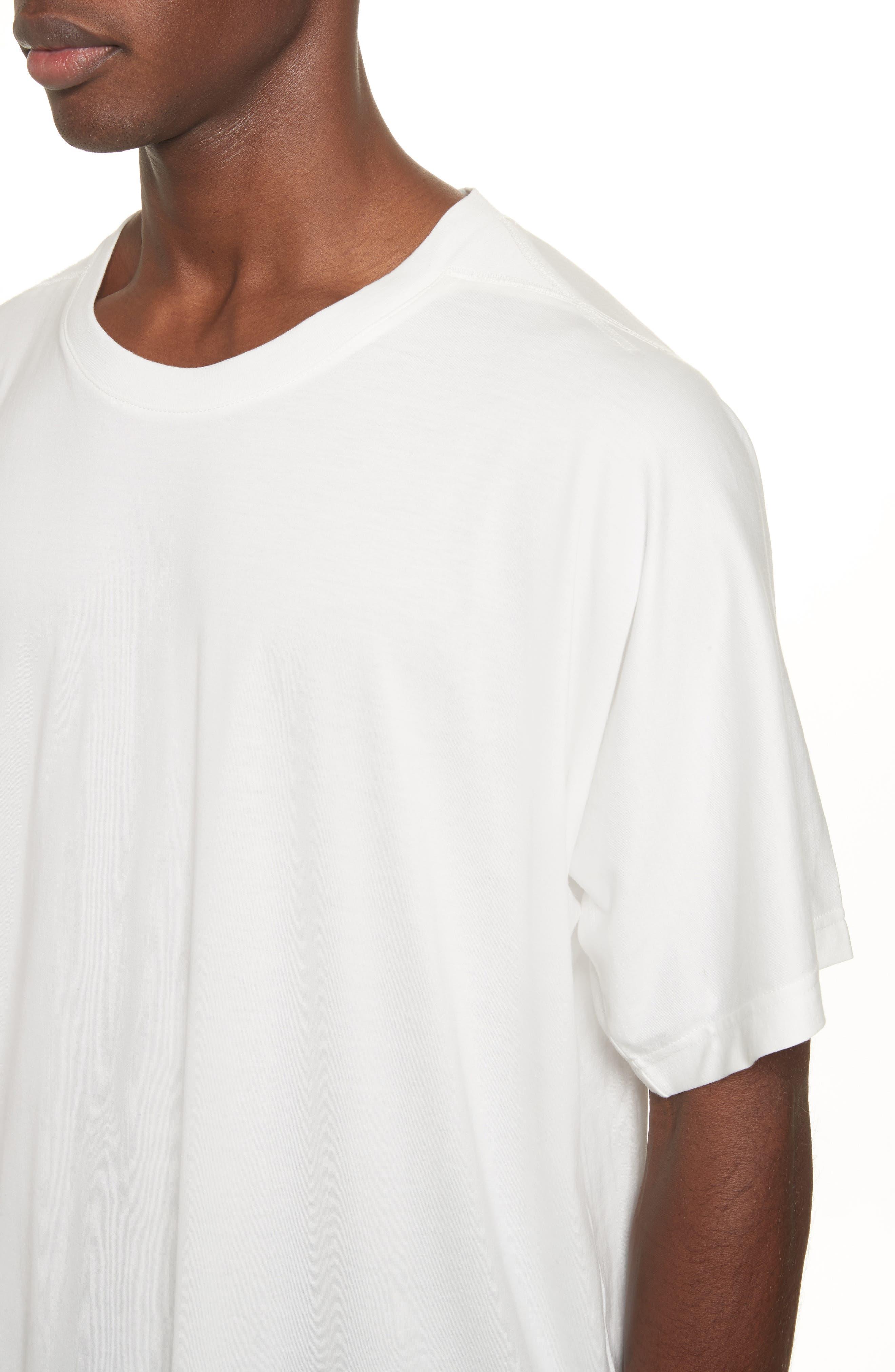 Back Logo Print Oversize T-Shirt,                             Alternate thumbnail 4, color,                             White