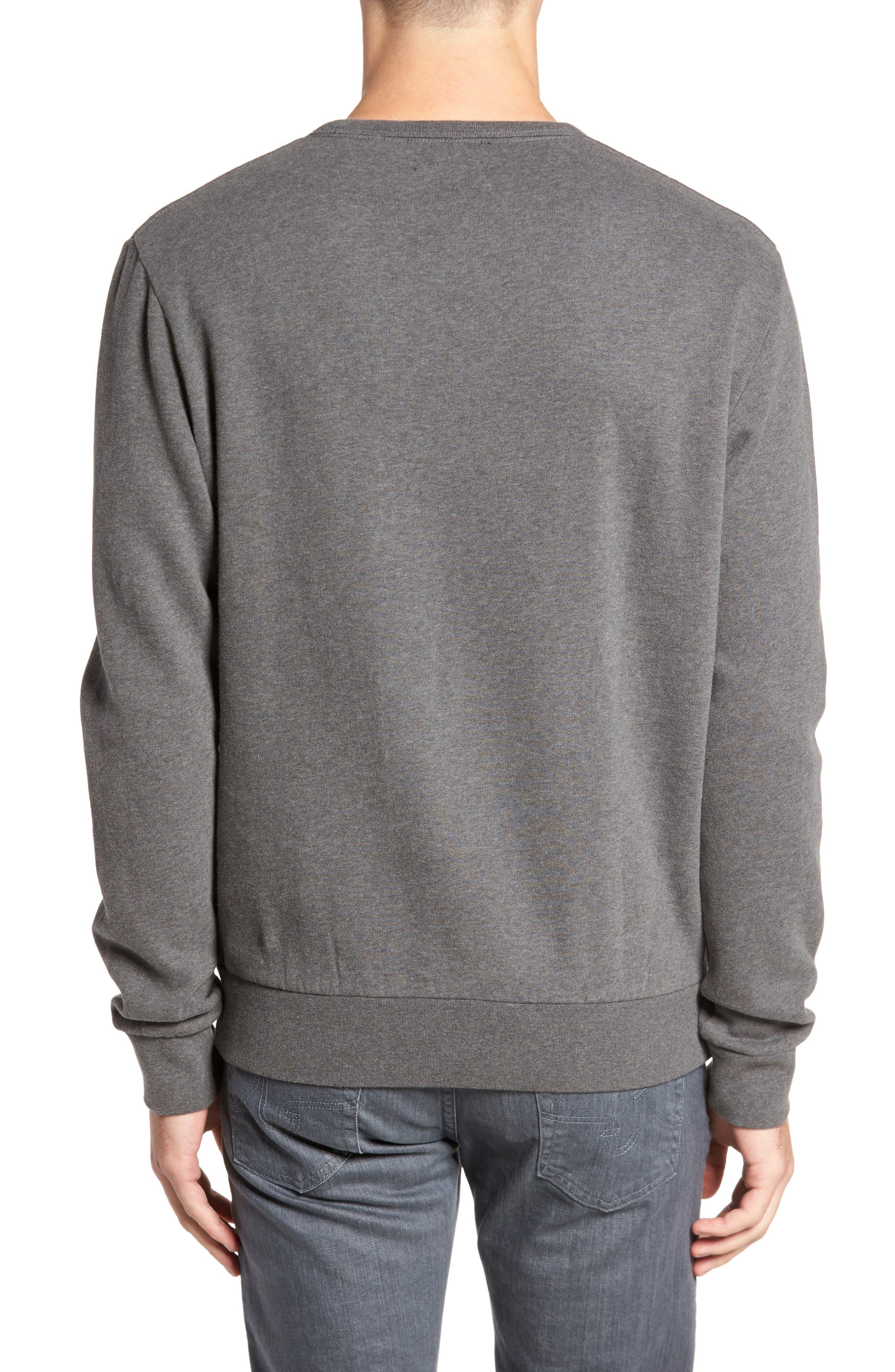 Tweed Appliqué Sweatshirt,                             Alternate thumbnail 2, color,                             Charcoal Melange