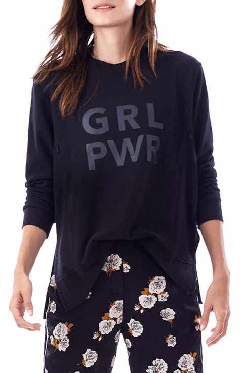 Loyal Hana GRL PWR Maternity Sweatshirt