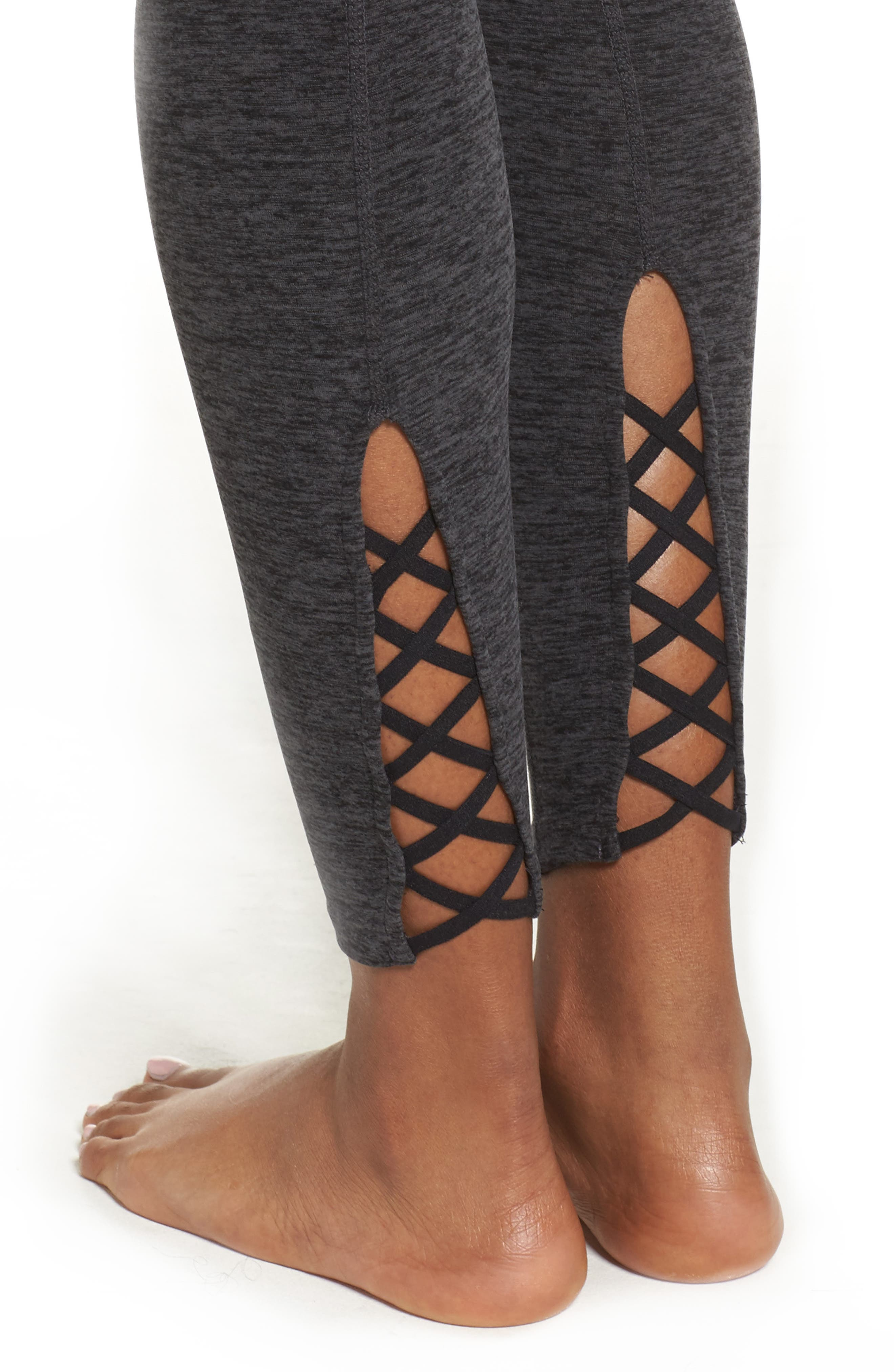 Alternate Image 4  - Beyond Yoga Crisscross Crop Leggings