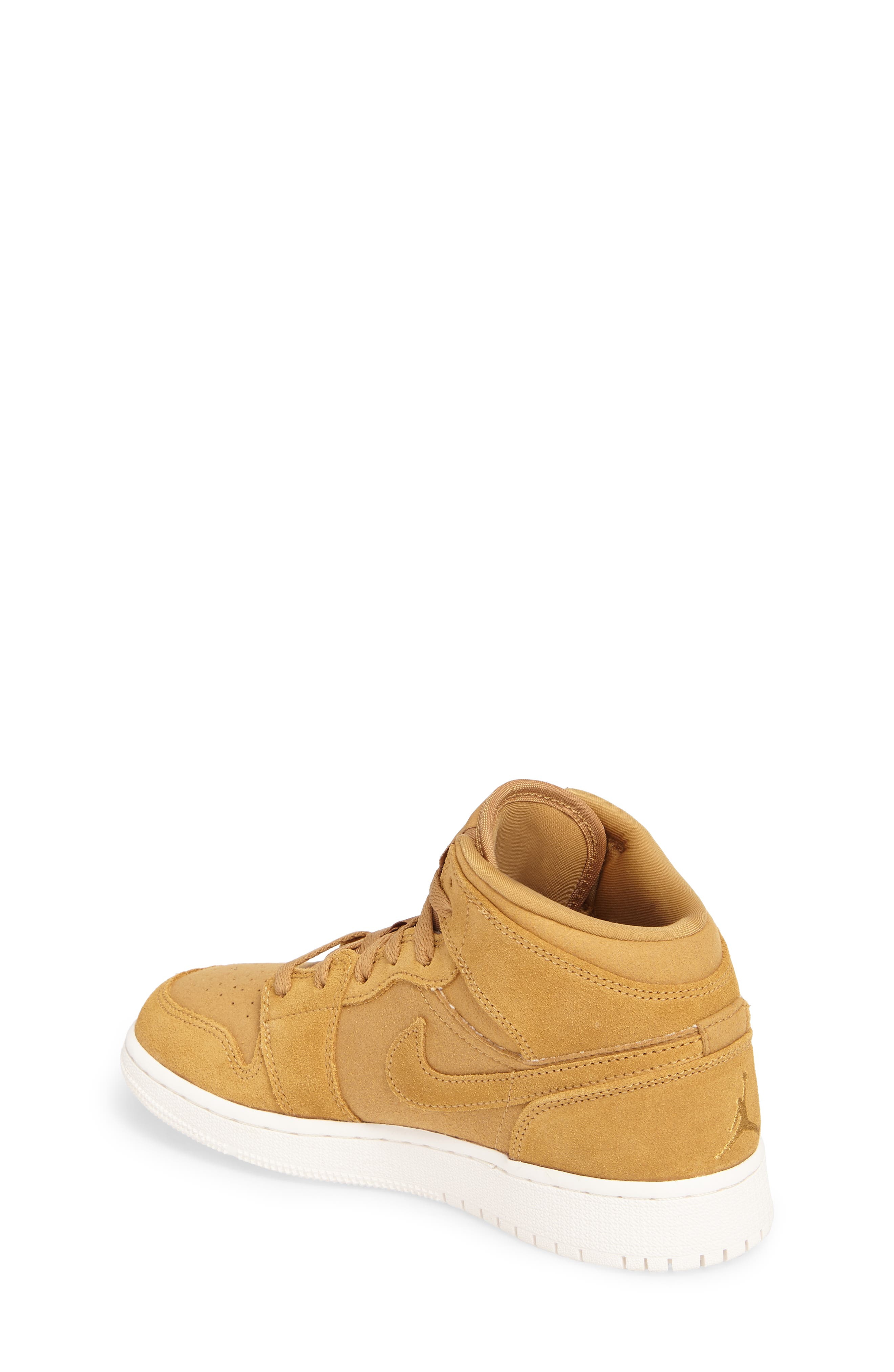 Alternate Image 2  - Nike 'Air Jordan 1 Mid' Sneaker (Big Kid)