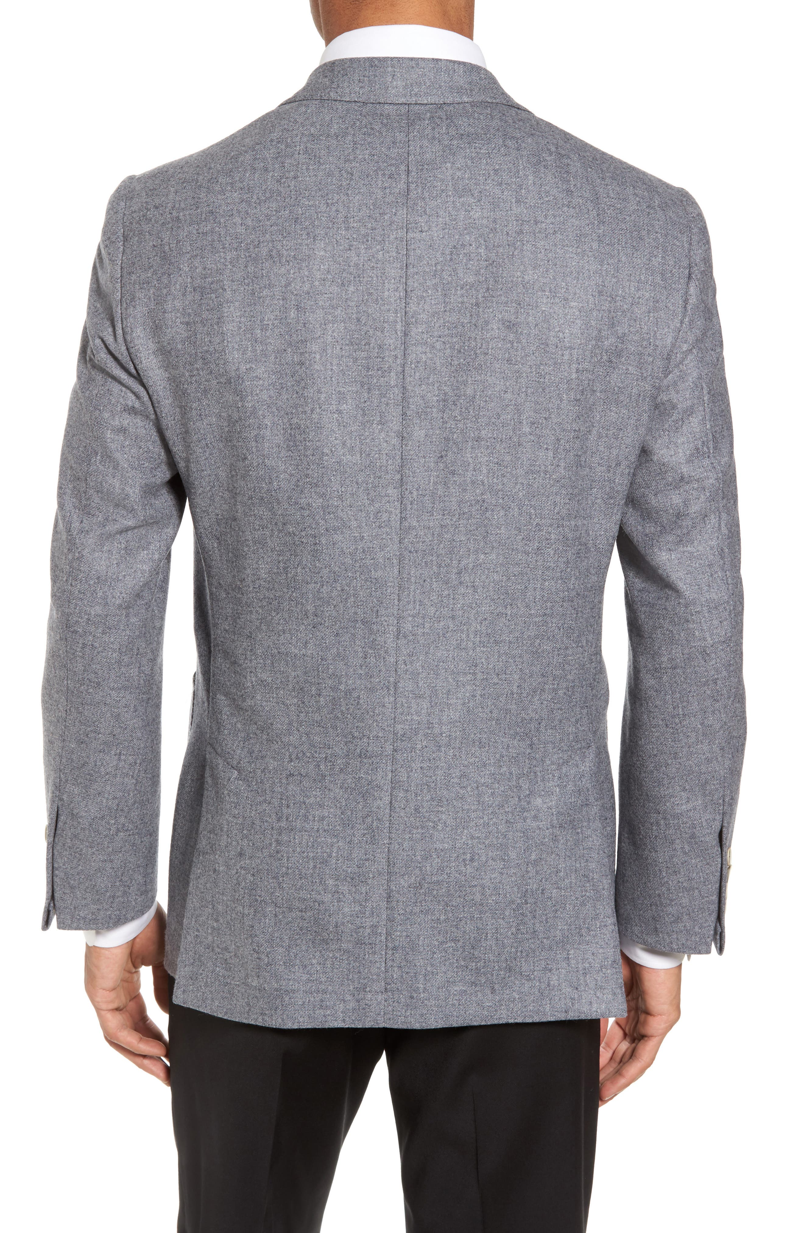 Classic B Fit Wool & Cashmere Blazer,                             Alternate thumbnail 2, color,                             Light Grey Solid