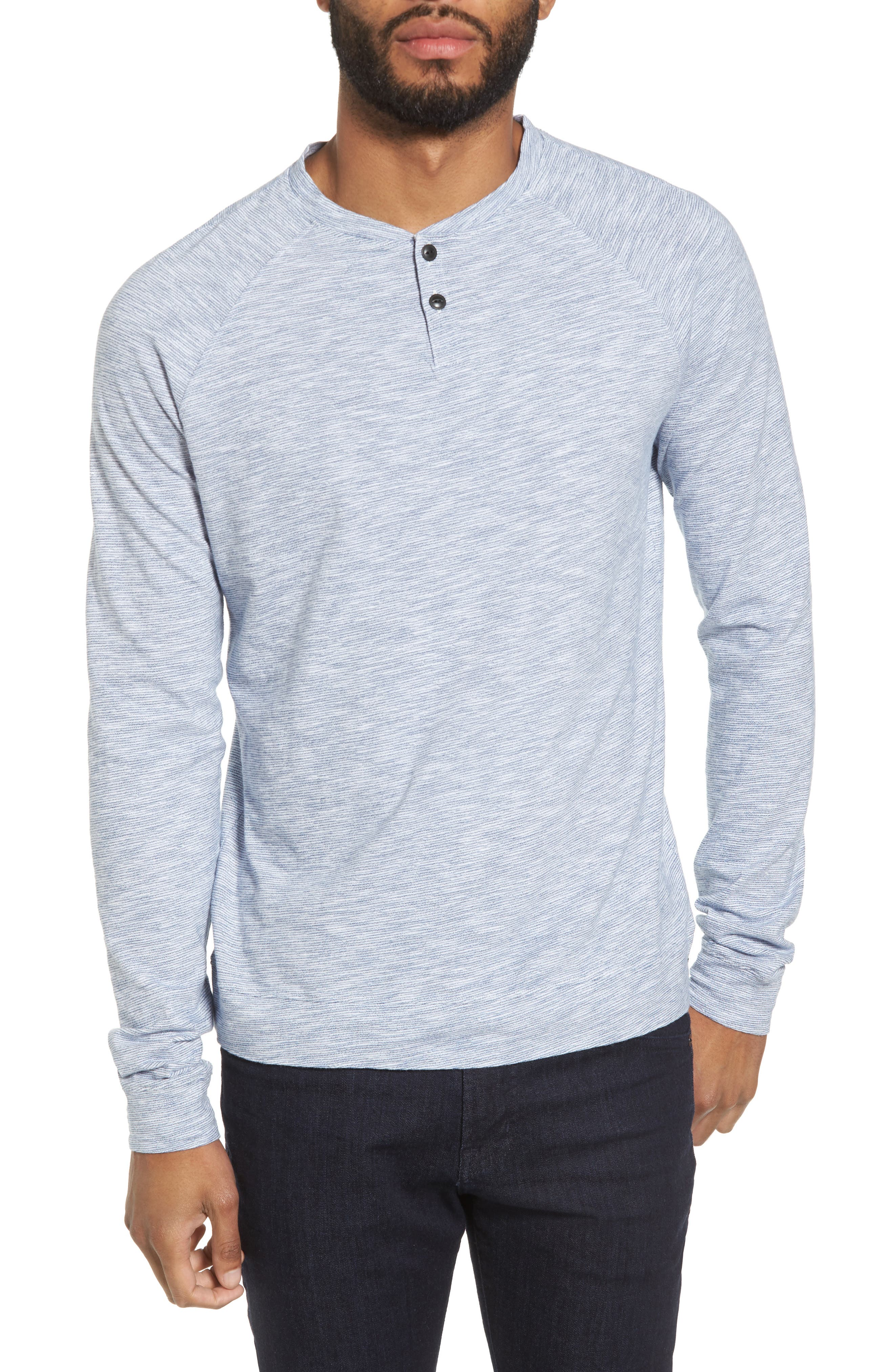 Good Man Brand Stripe Raglan Henley