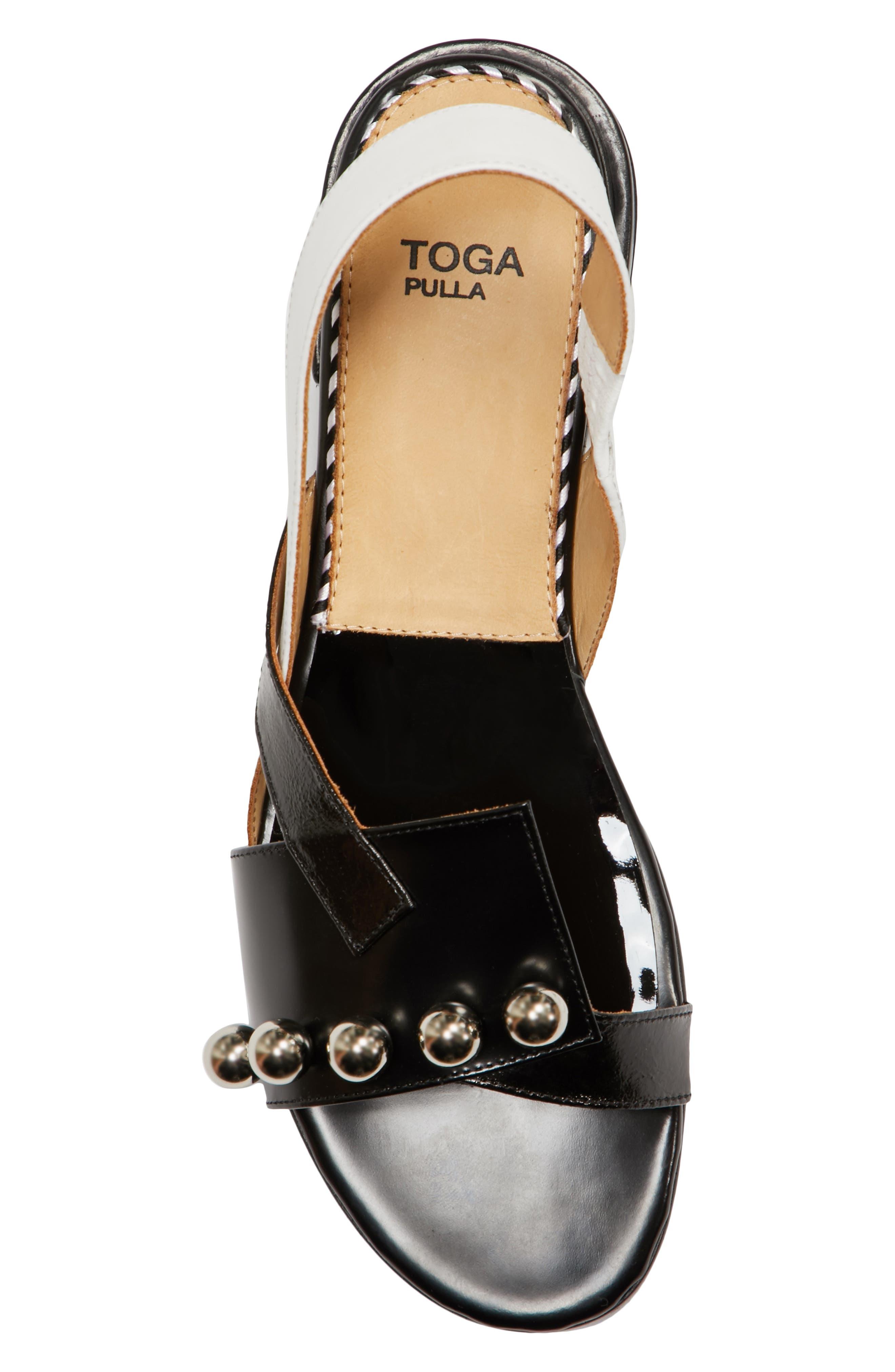 Alternate Image 5  - TOGA PULLA Embellished Colorblock Slingback Sandal (Women)
