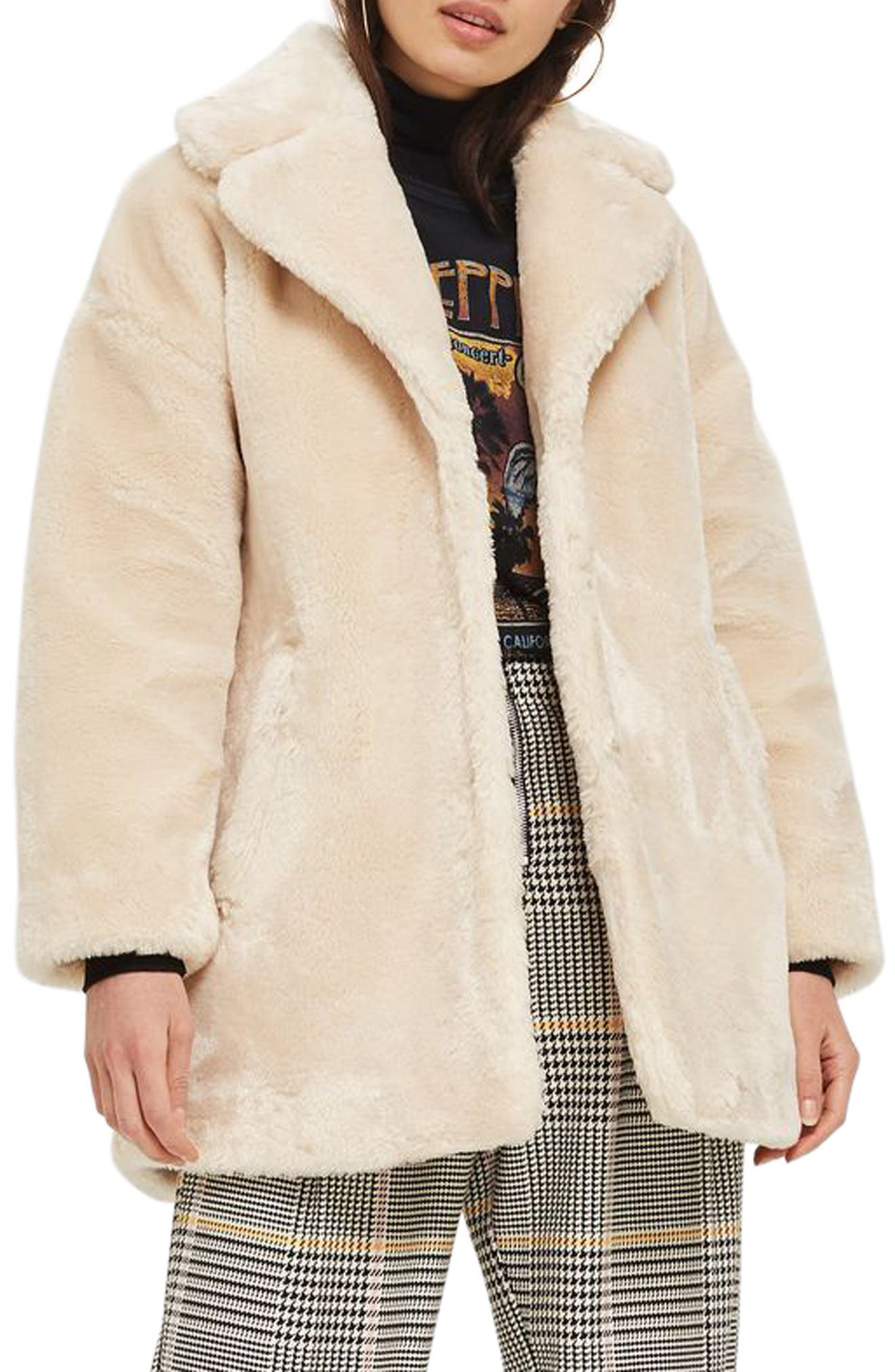 Topshop Polar Bear Faux Fur Coat
