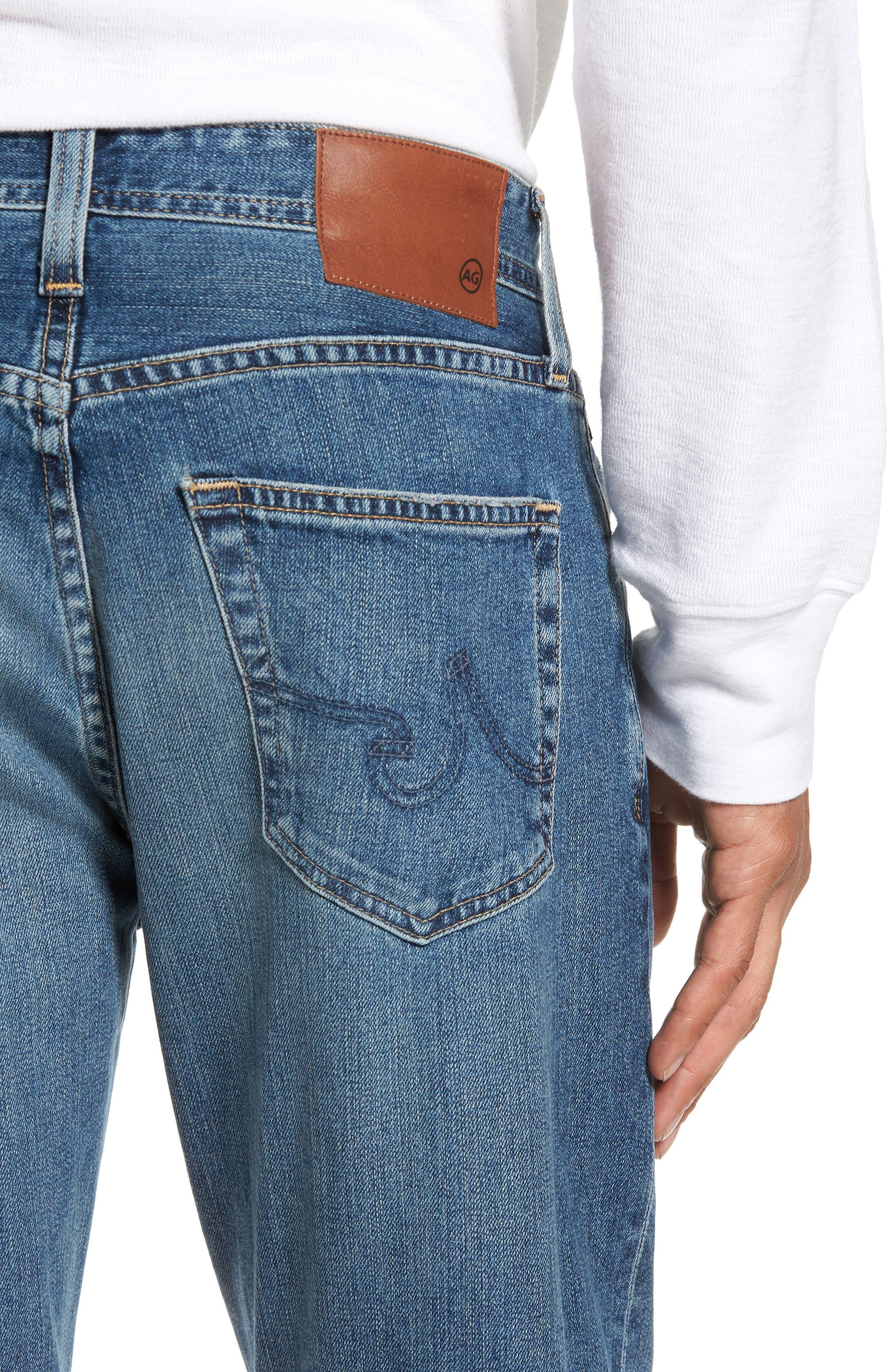Alternate Image 4  - AG Ives Straight Fit Jeans (Grasslands)