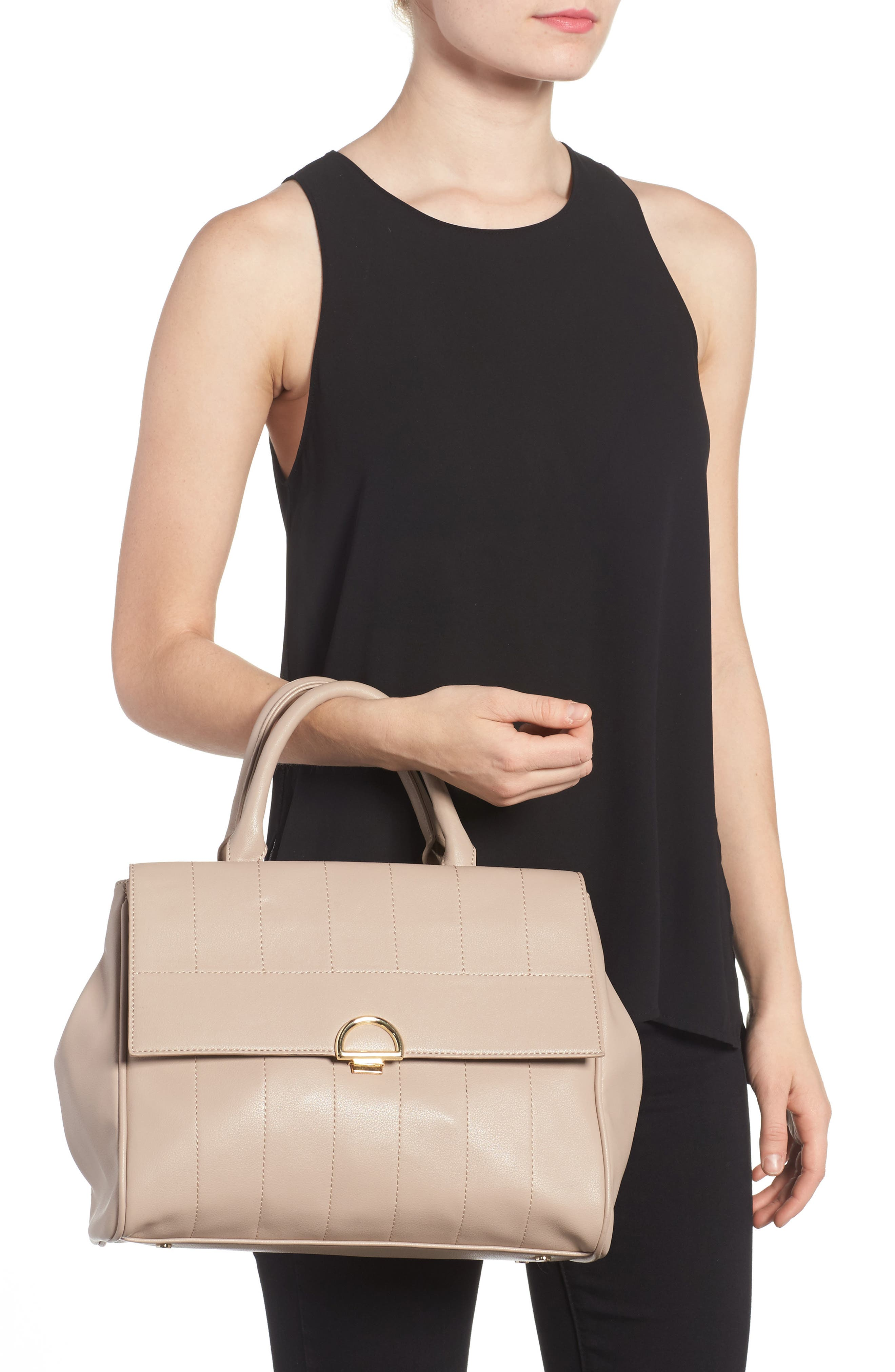 Alternate Image 2  - Sole Society Tracy Quilted Faux Leather Satchel