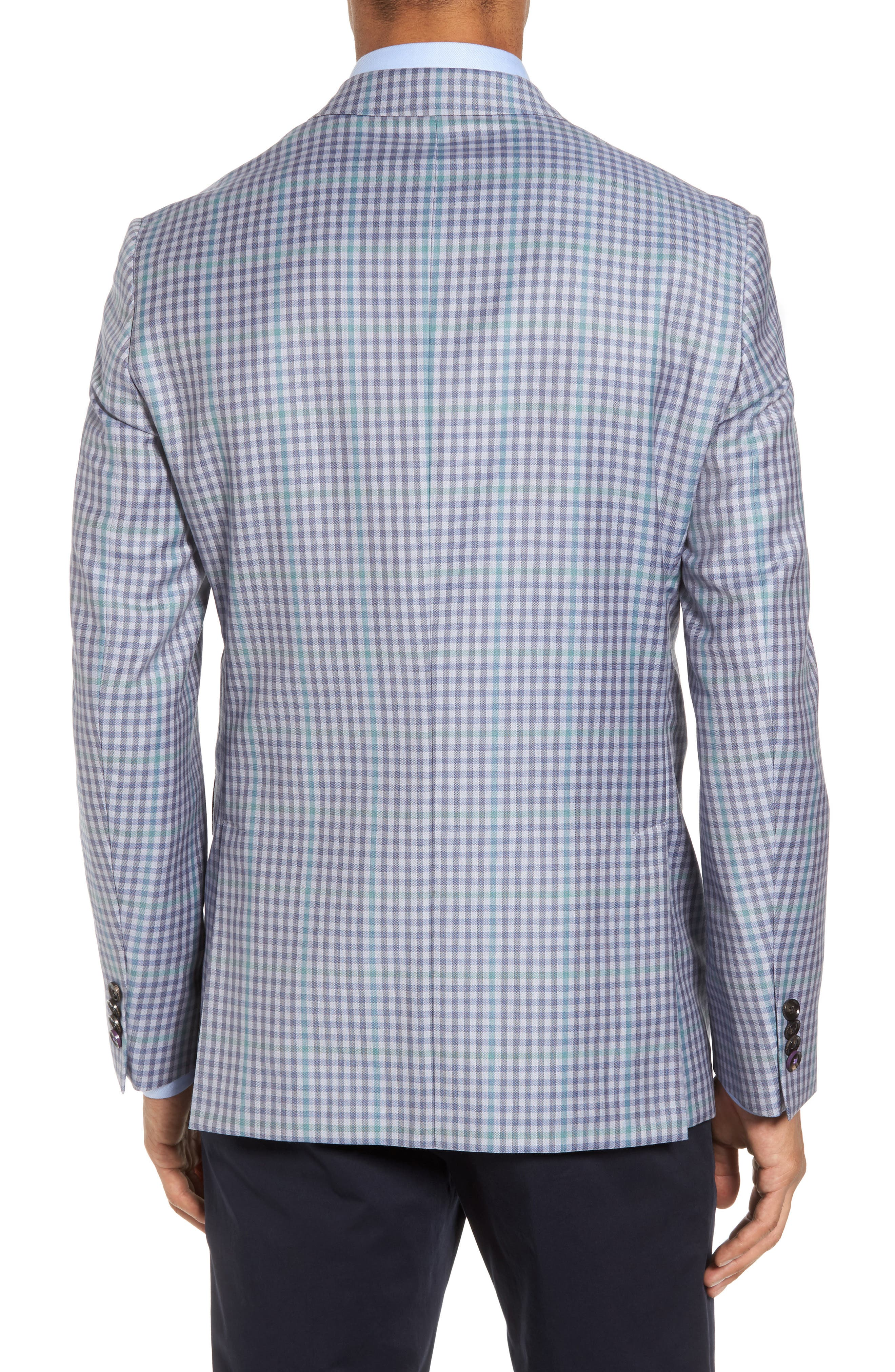 Konan Trim Fit Check Wool Sport Coat,                             Alternate thumbnail 2, color,                             Blue Grey Green Ck