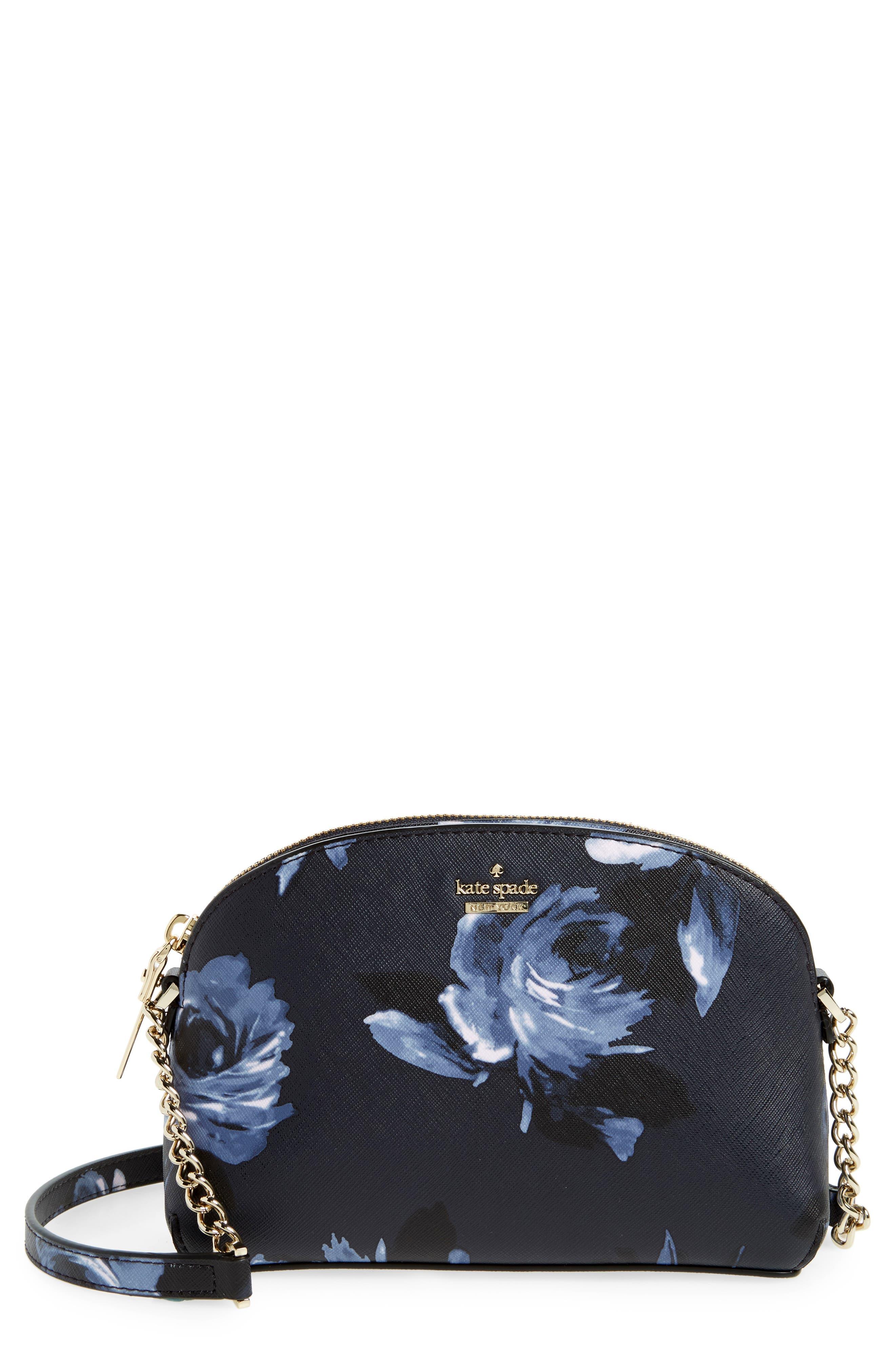 kate spade new york cameron street rose - hilli leather crossbody bag