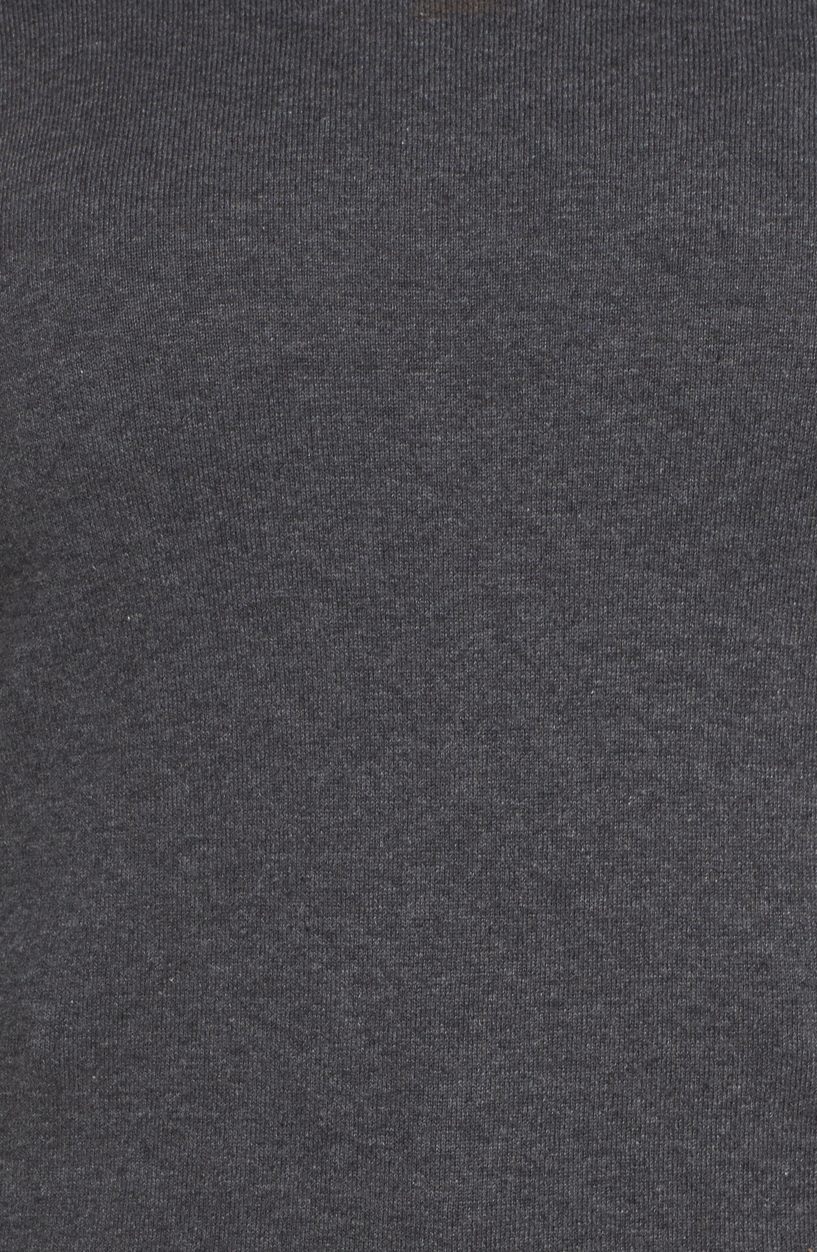 Layered Look Sweater,                             Alternate thumbnail 5, color,                             Medium Heather Grey