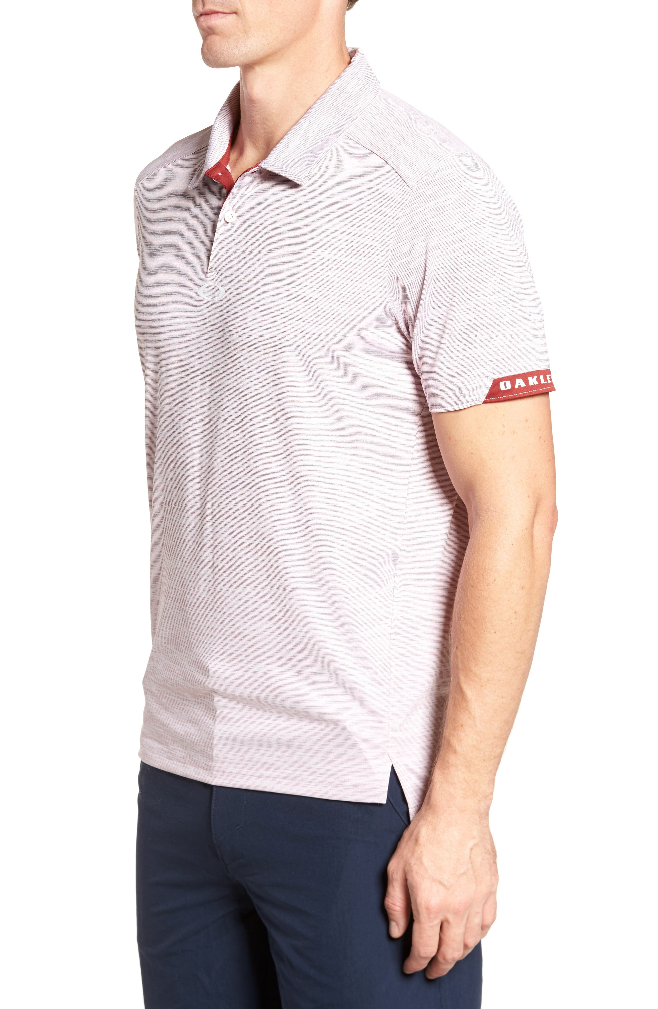 Gravity Polo Shirt,                             Alternate thumbnail 3, color,                             Iron Red