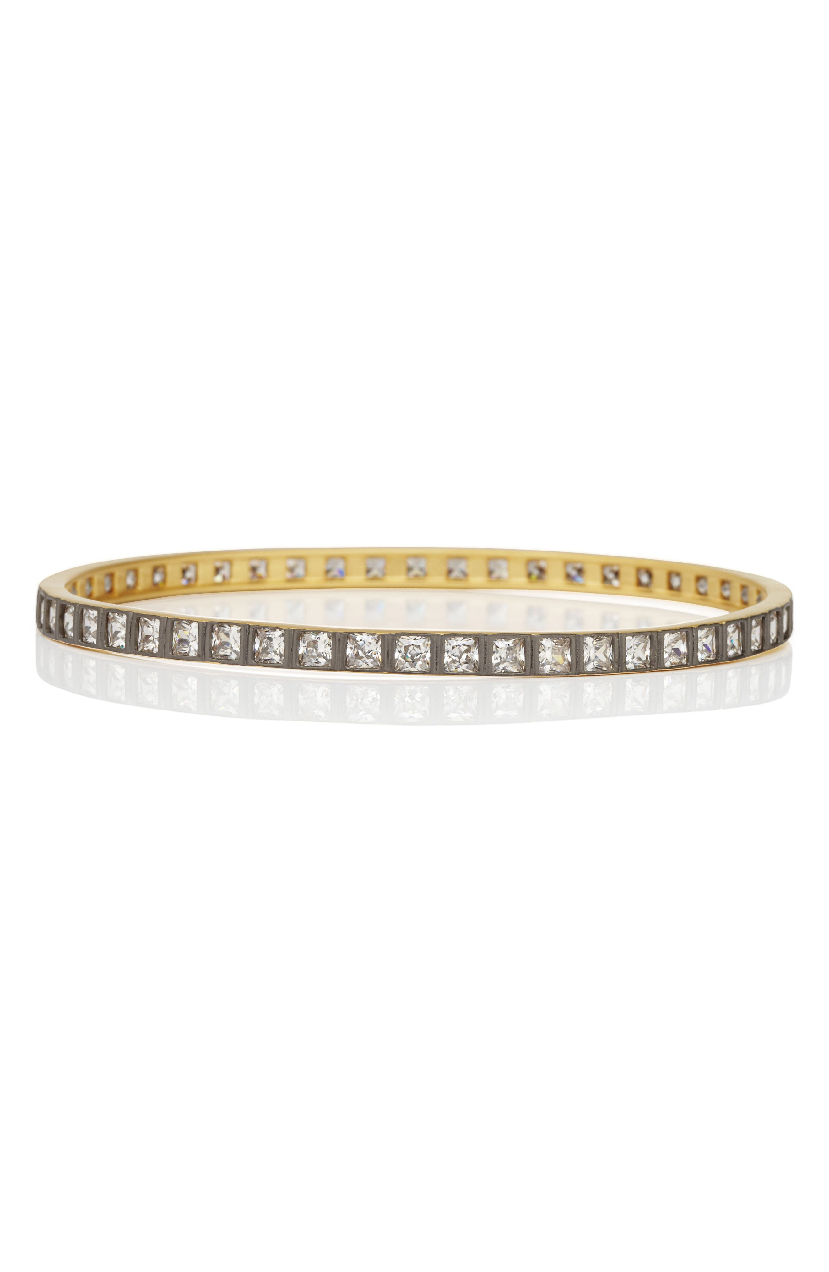 FREIDA ROTHMAN Square Radiance Cubic Zirconia Bangle (Special Purchase)