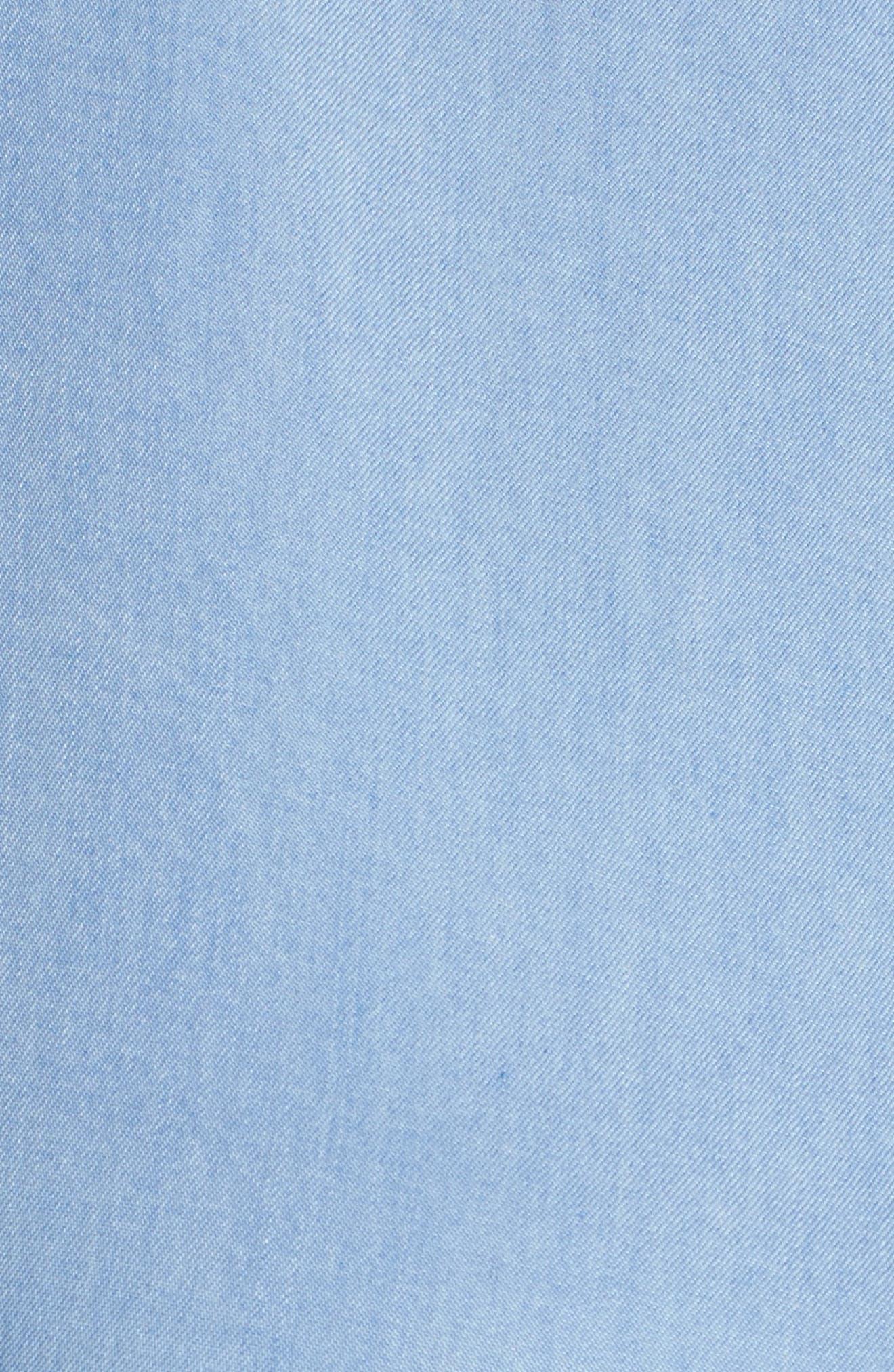 Alternate Image 6  - Rebel Wilson x Angels Chambray Button-Up Shirtdress (Plus Size)