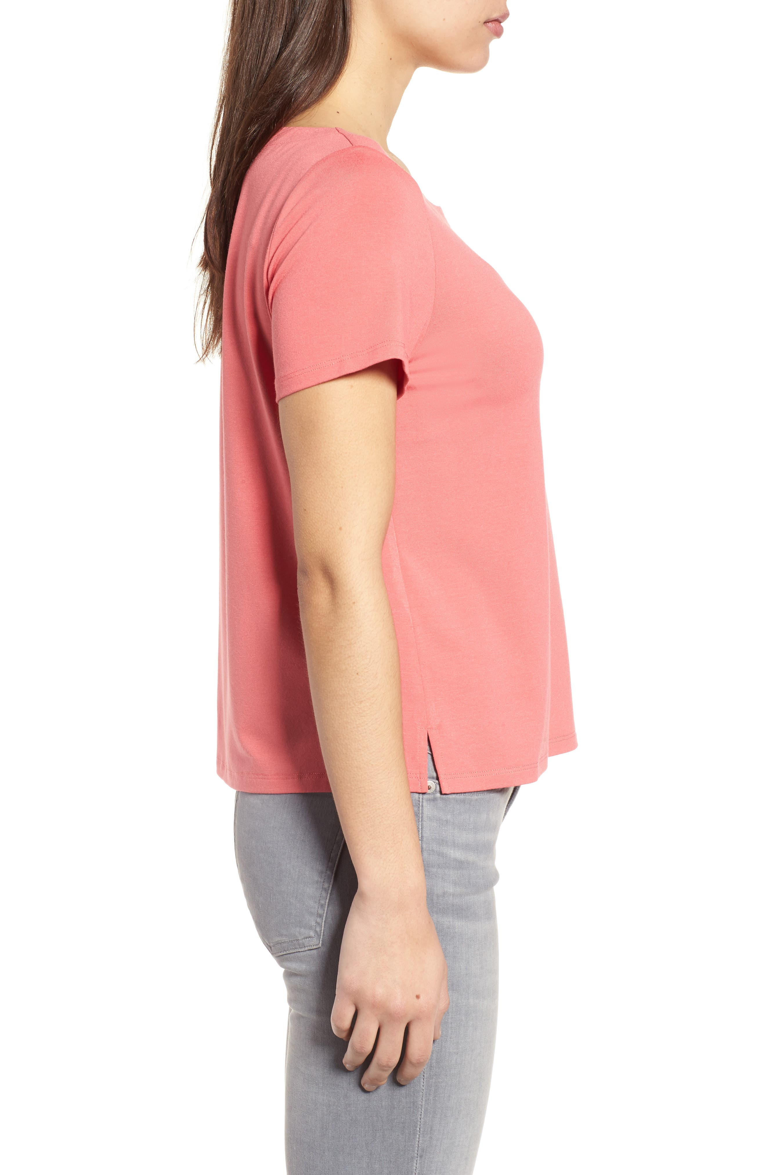 Alternate Image 3  - Eileen Fisher Square Neck Jersey Top