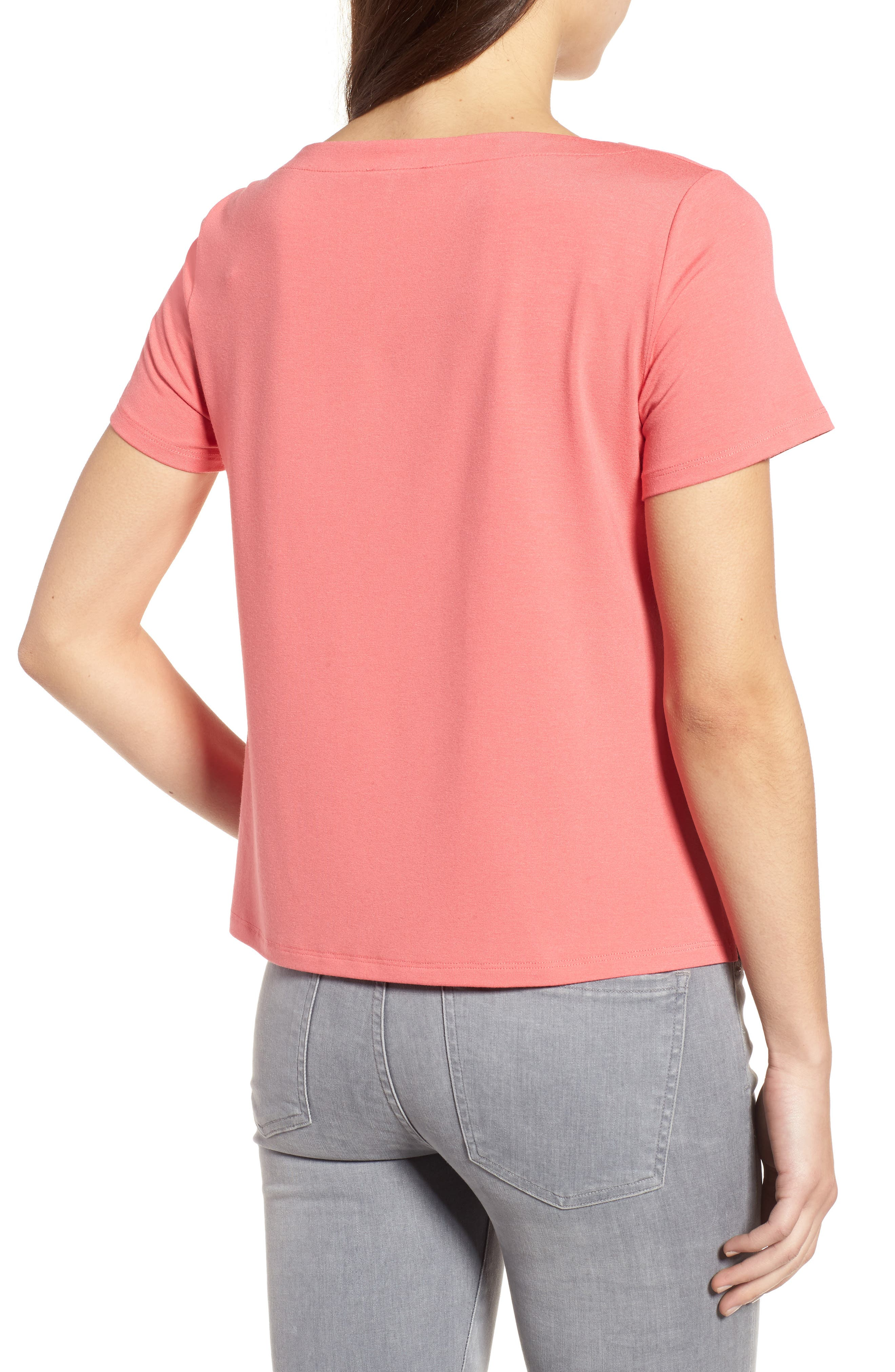 Alternate Image 2  - Eileen Fisher Square Neck Jersey Top