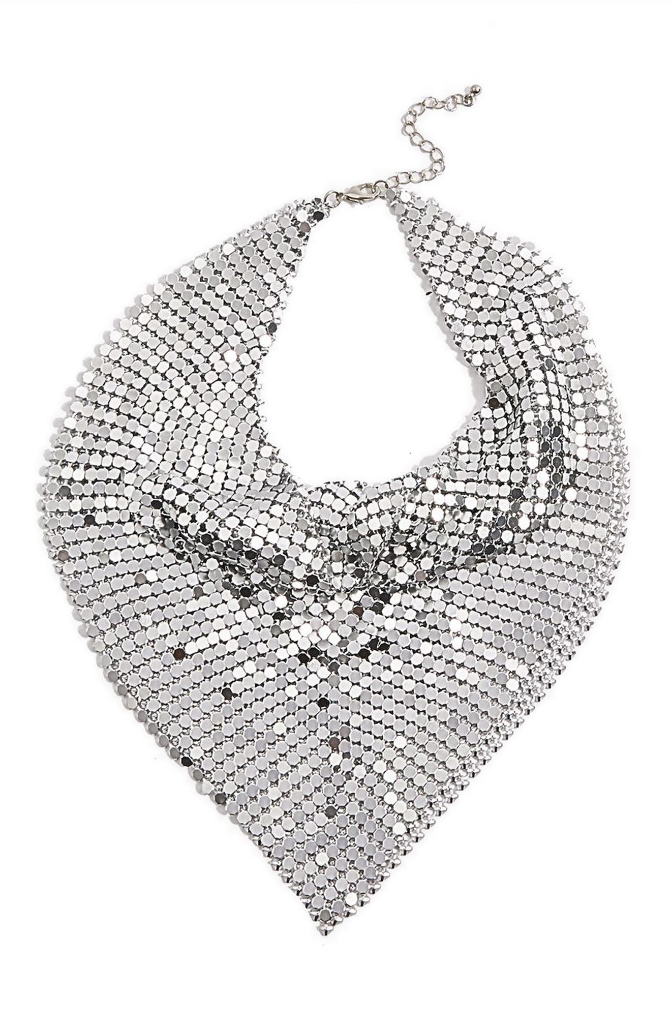 Topshop Chain Mail Scarf Necklace