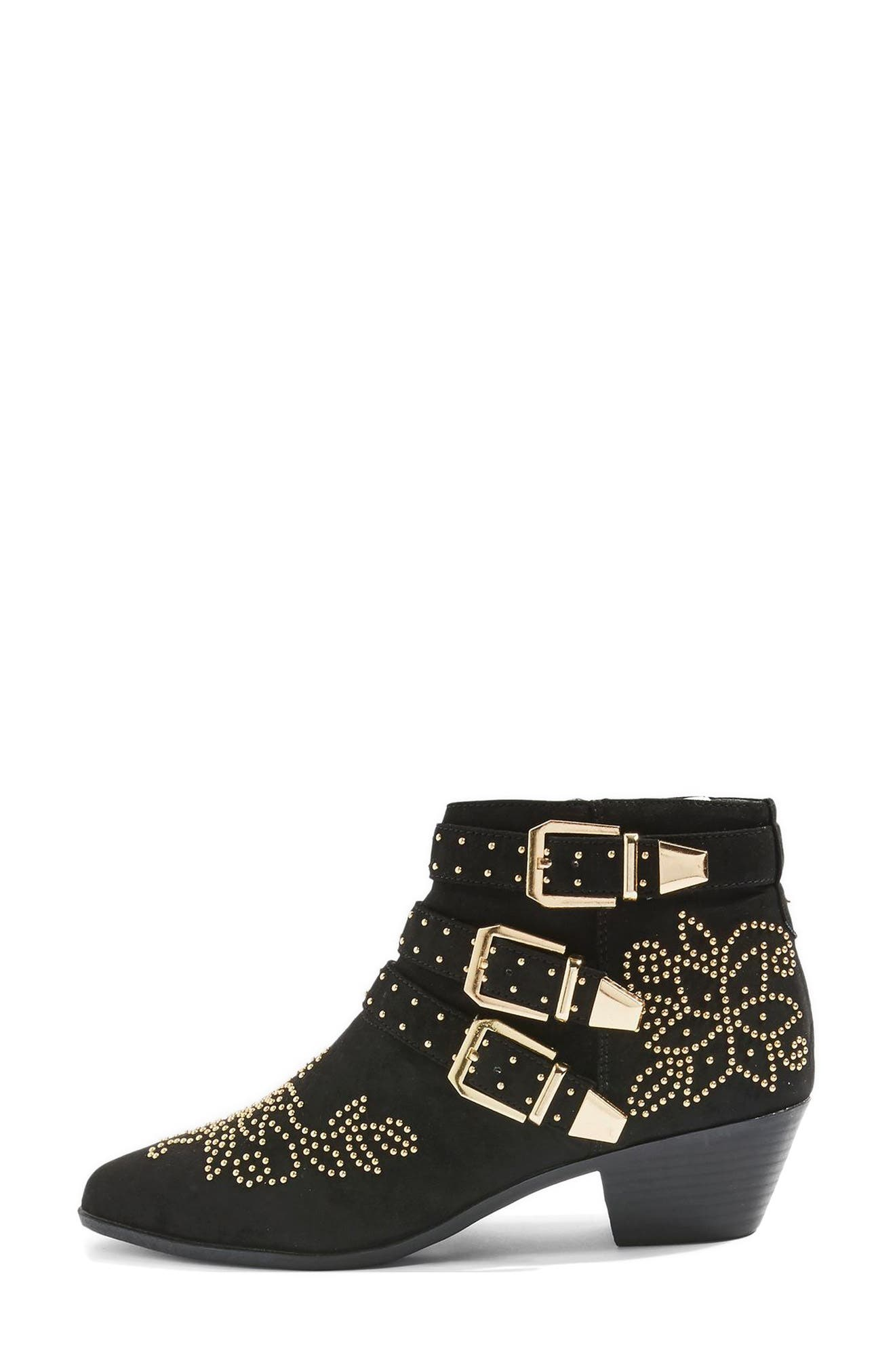 Kowboy Studded Western Boot,                             Alternate thumbnail 2, color,                             Black Multi
