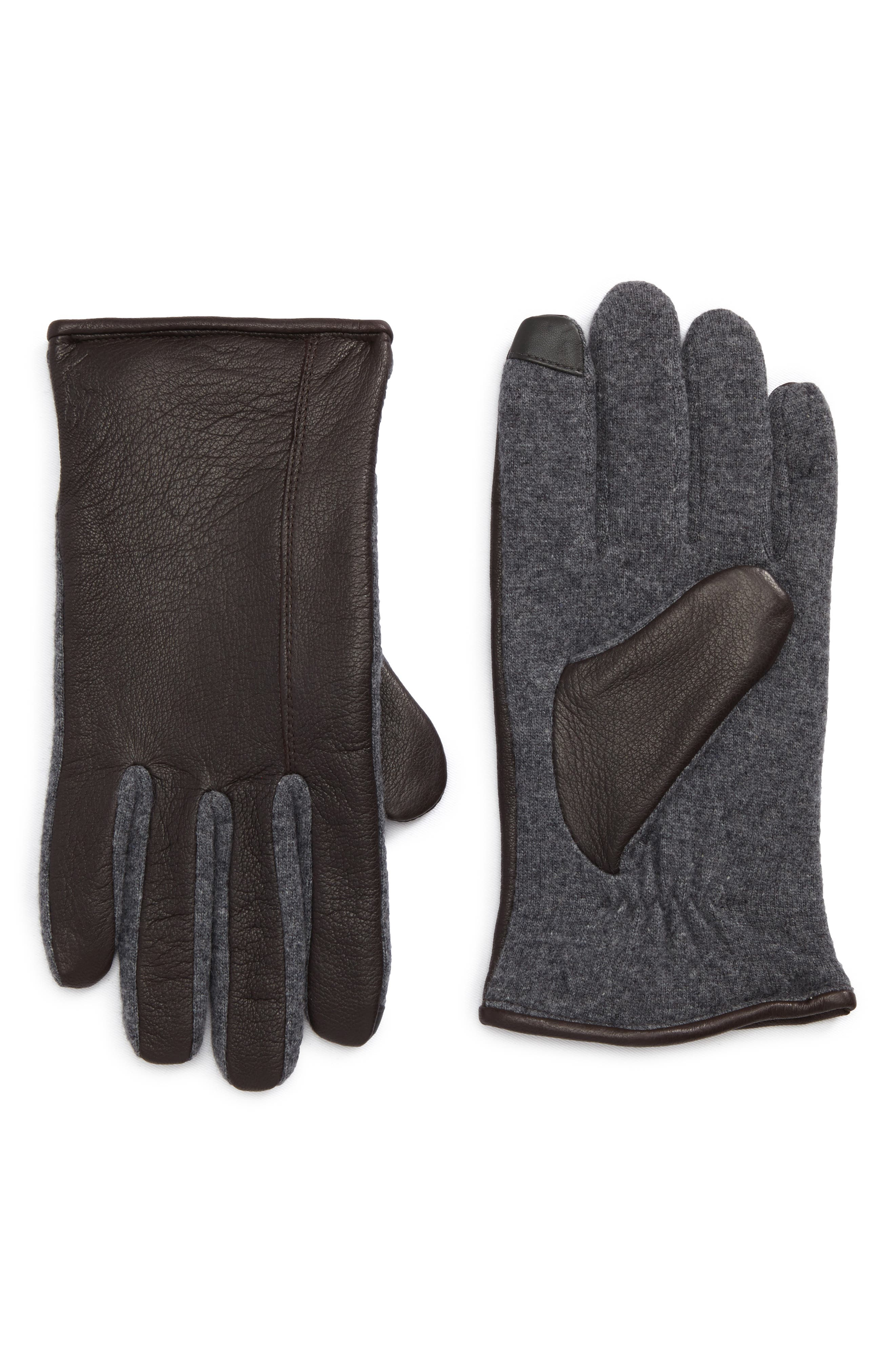 Ralph Lauren Deer Leather Hybrid Driving Gloves