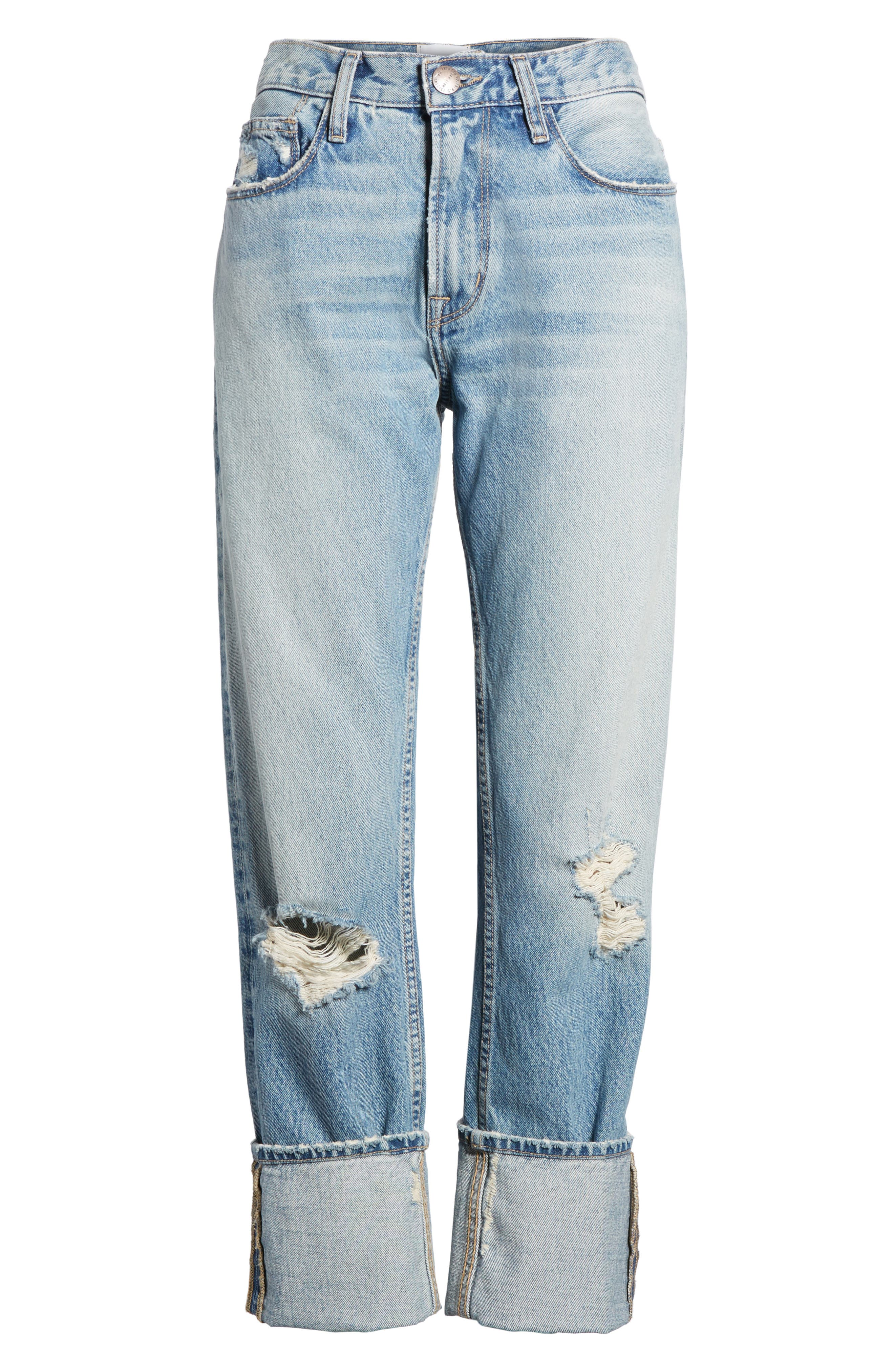 Alternate Image 6  - Current/Elliott The His Boyfriend Jeans (Pinyon Destroy Wash)