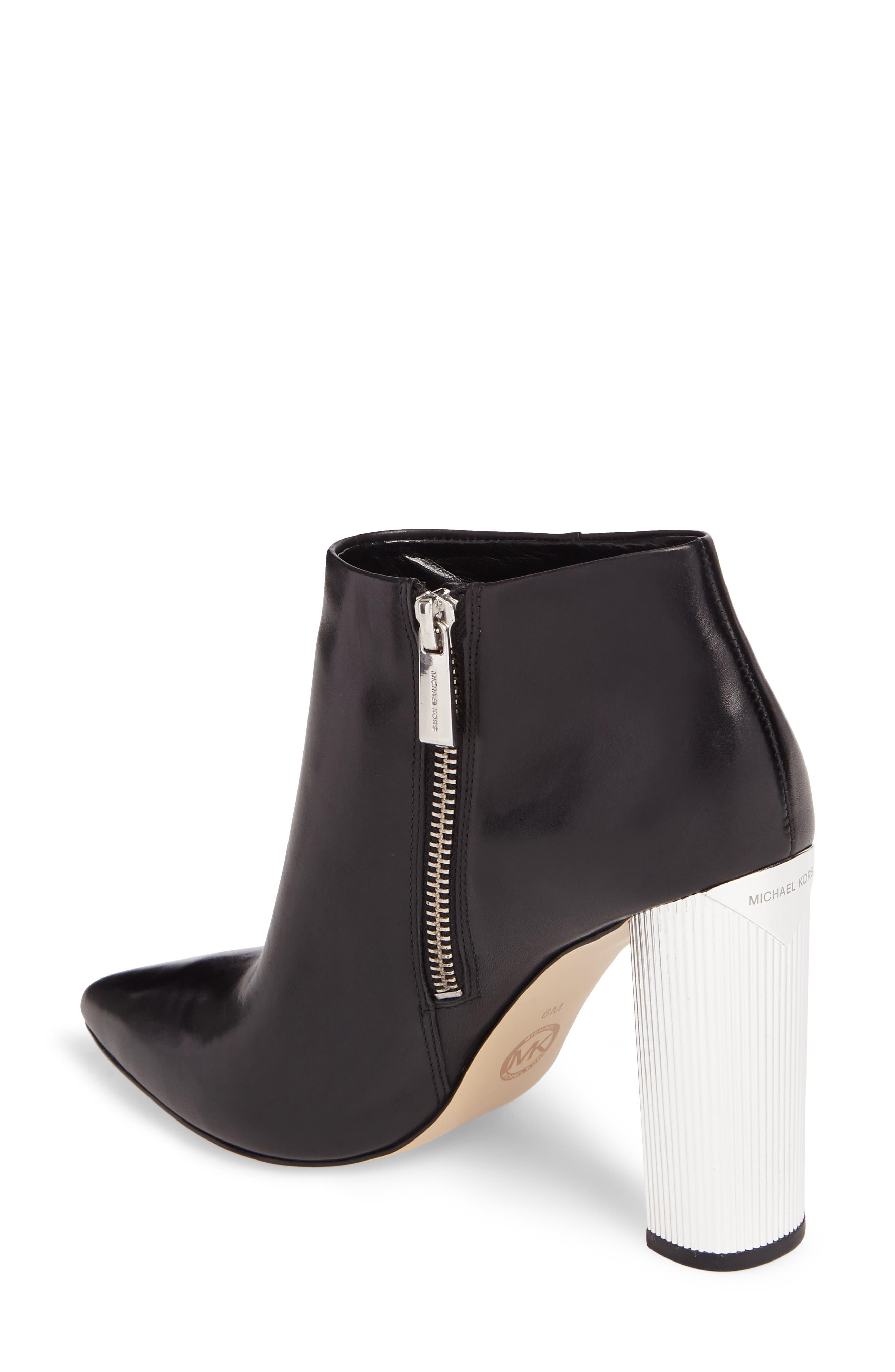 Paloma Bootie,                             Alternate thumbnail 2, color,                             Black Calf Leather