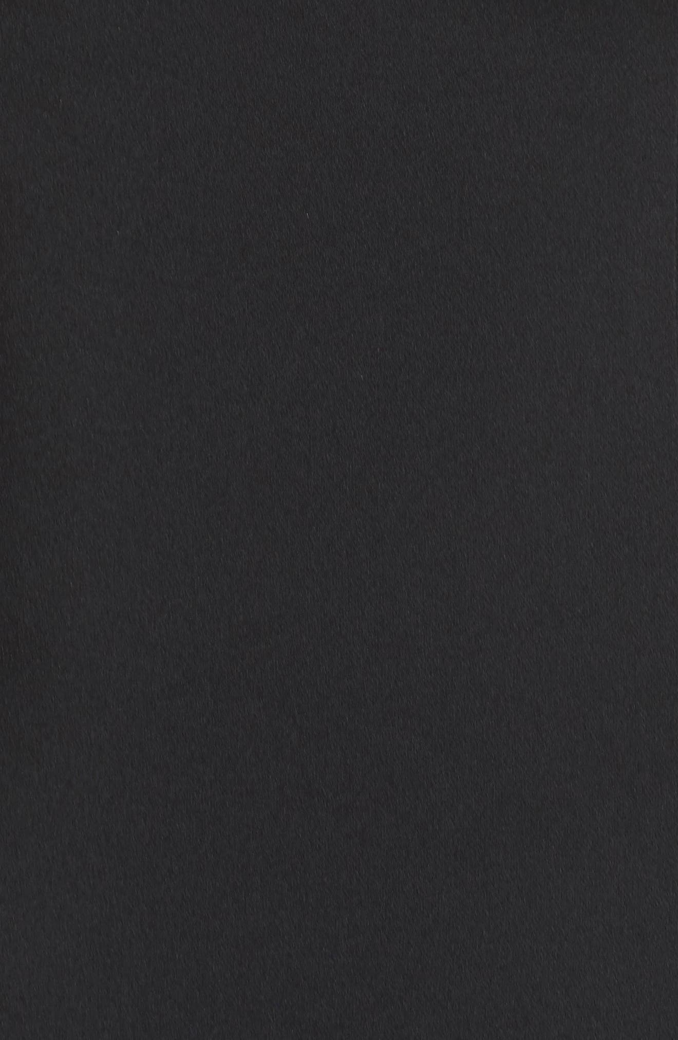 Kendra Elastic Strap Low Back Sheath Dress,                             Alternate thumbnail 5, color,                             Black