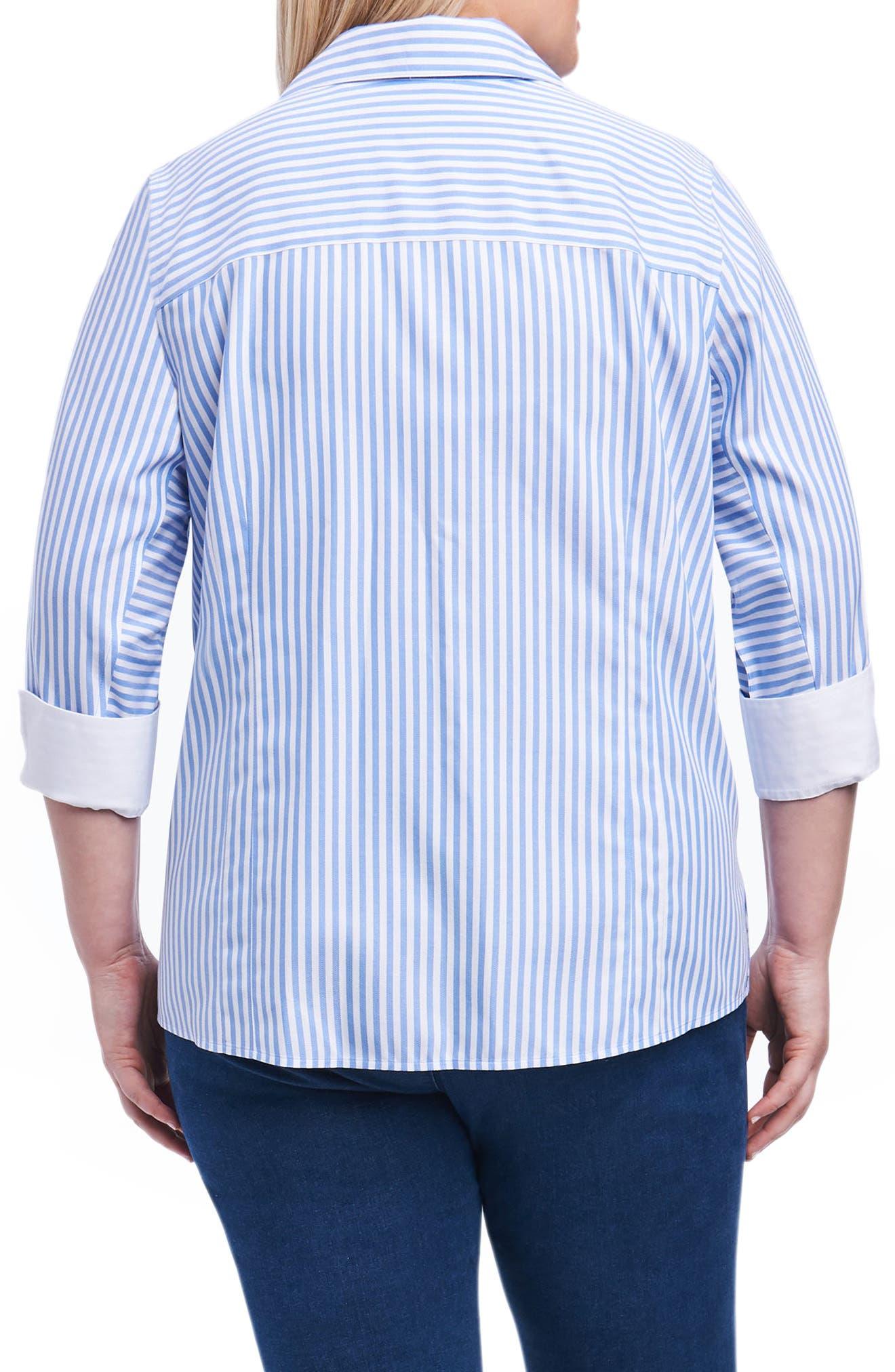 Alternate Image 2  - Foxcroft Taylor Button Down Shirt (Plus Size)