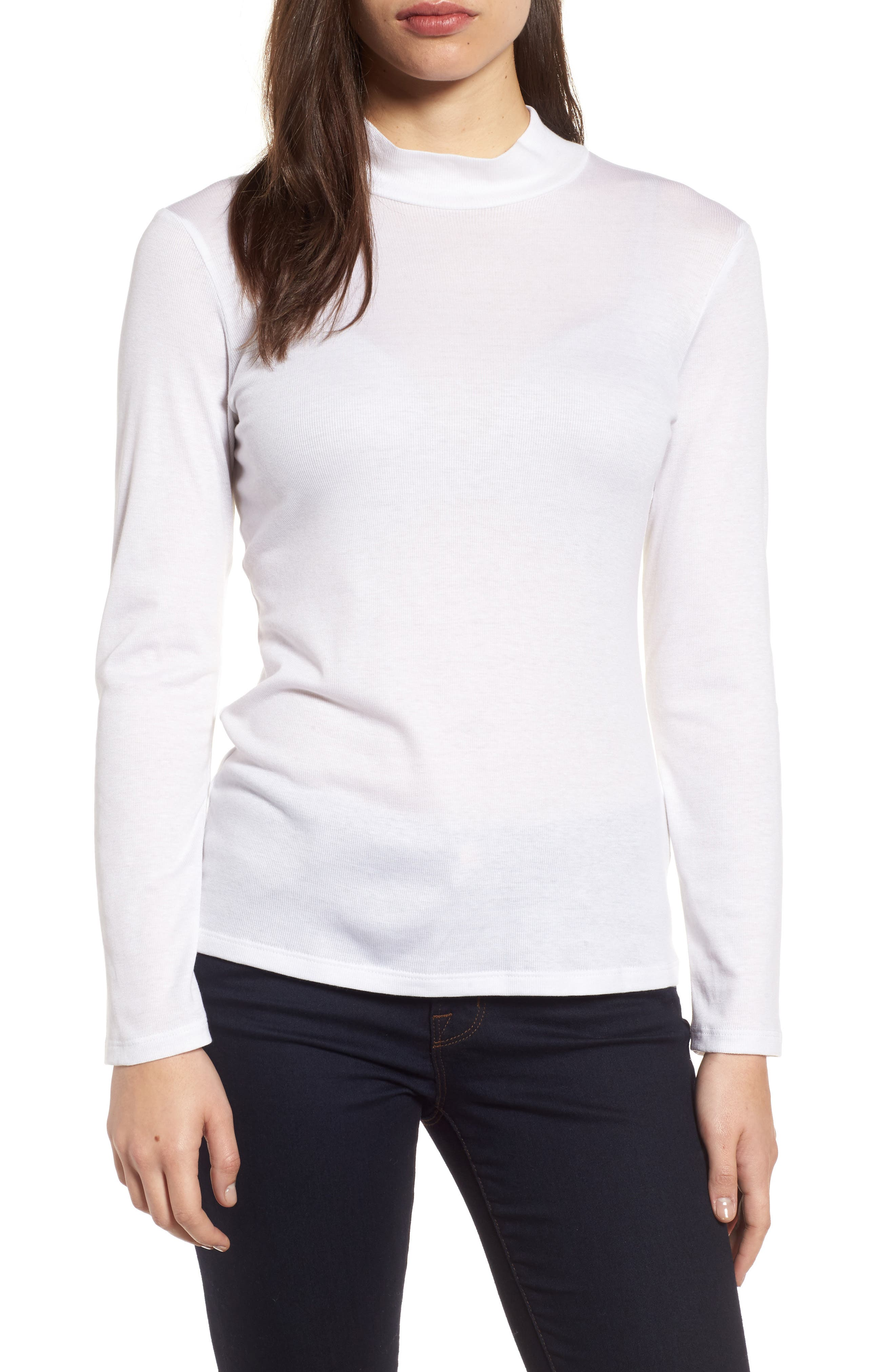Stretch Tencel<sup>®</sup> Top,                         Main,                         color, White