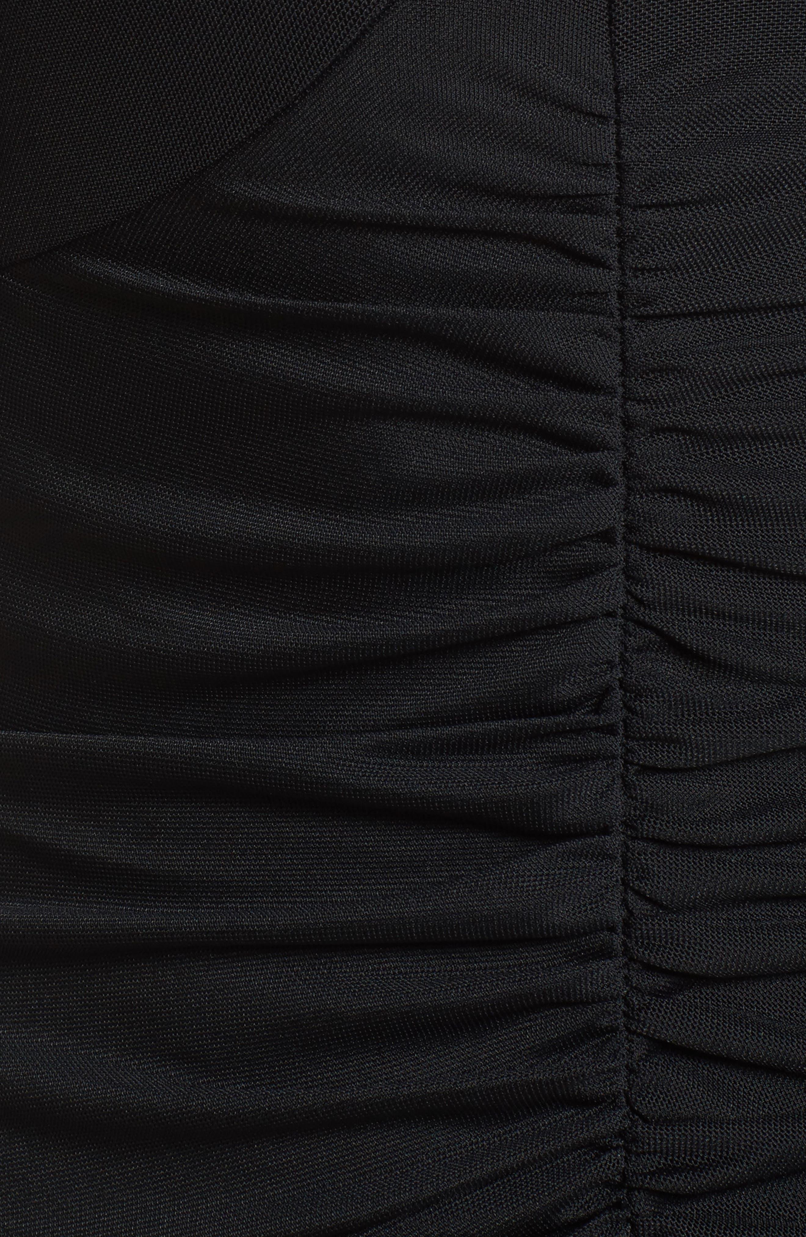 Body-Con Sheath Dress,                             Alternate thumbnail 5, color,                             Black
