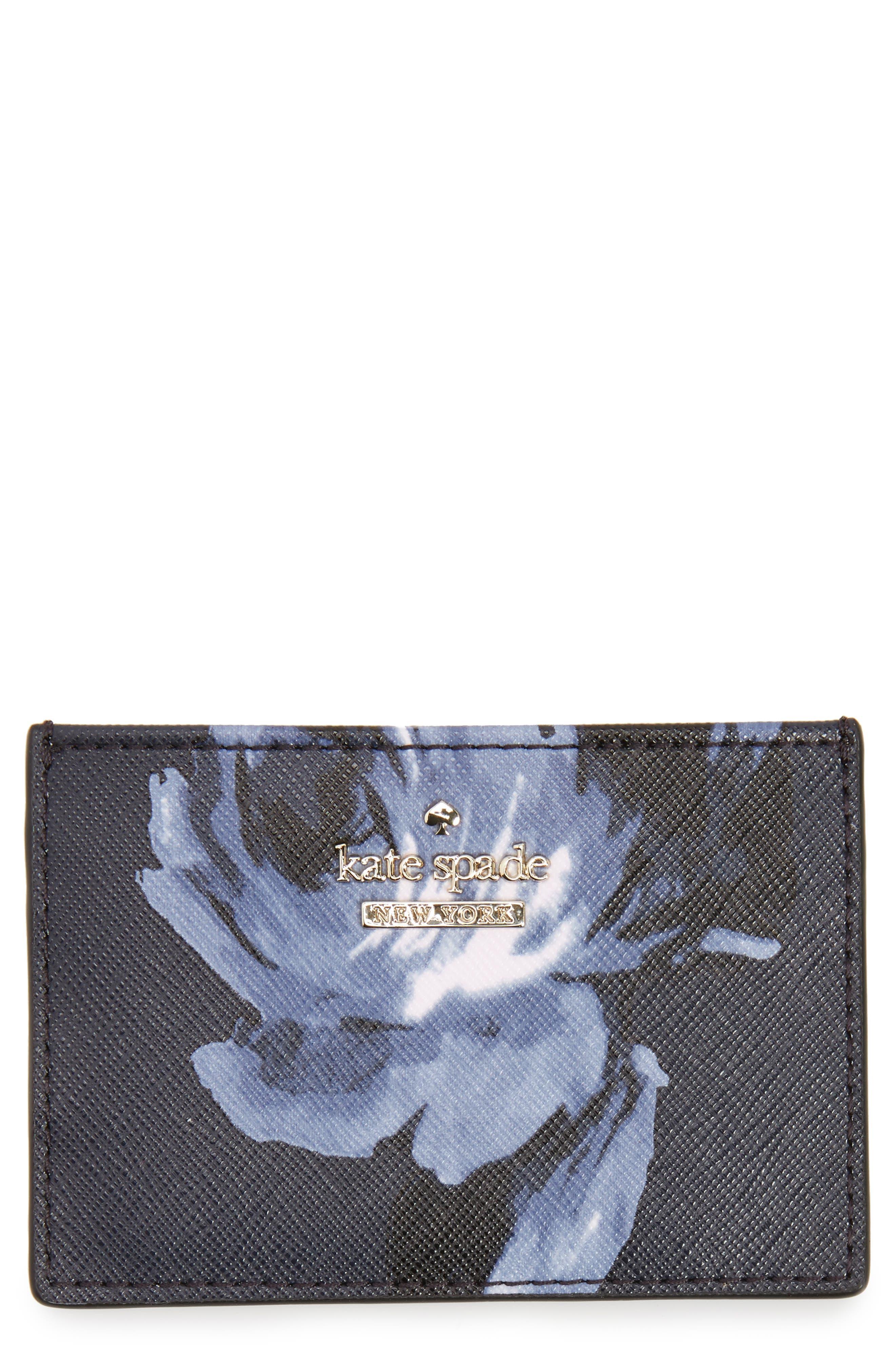 cameron street night rose card holder,                             Main thumbnail 1, color,                             Rich Navy Multi